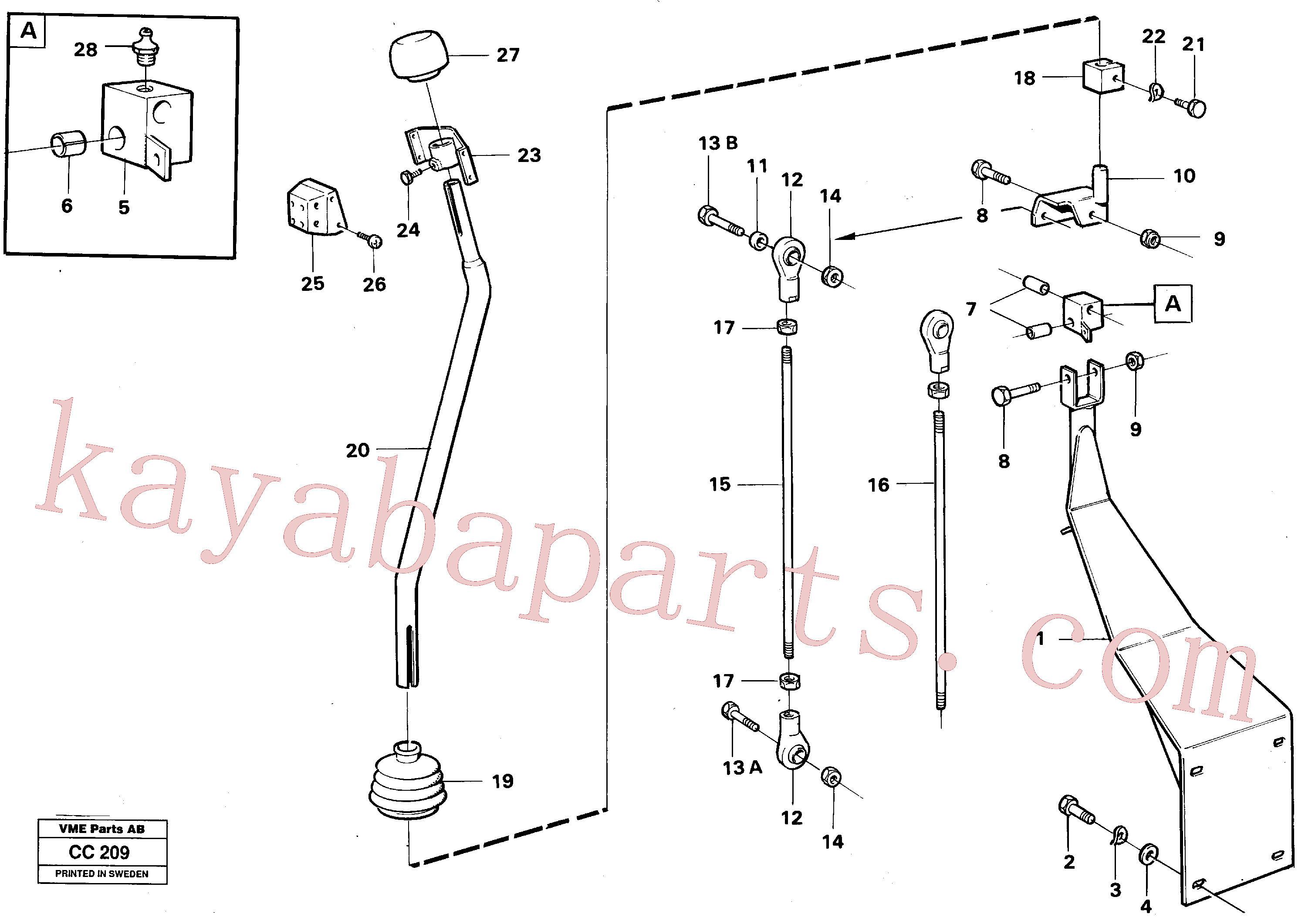VOE4953723 for Volvo Loader controls(CC209 assembly)