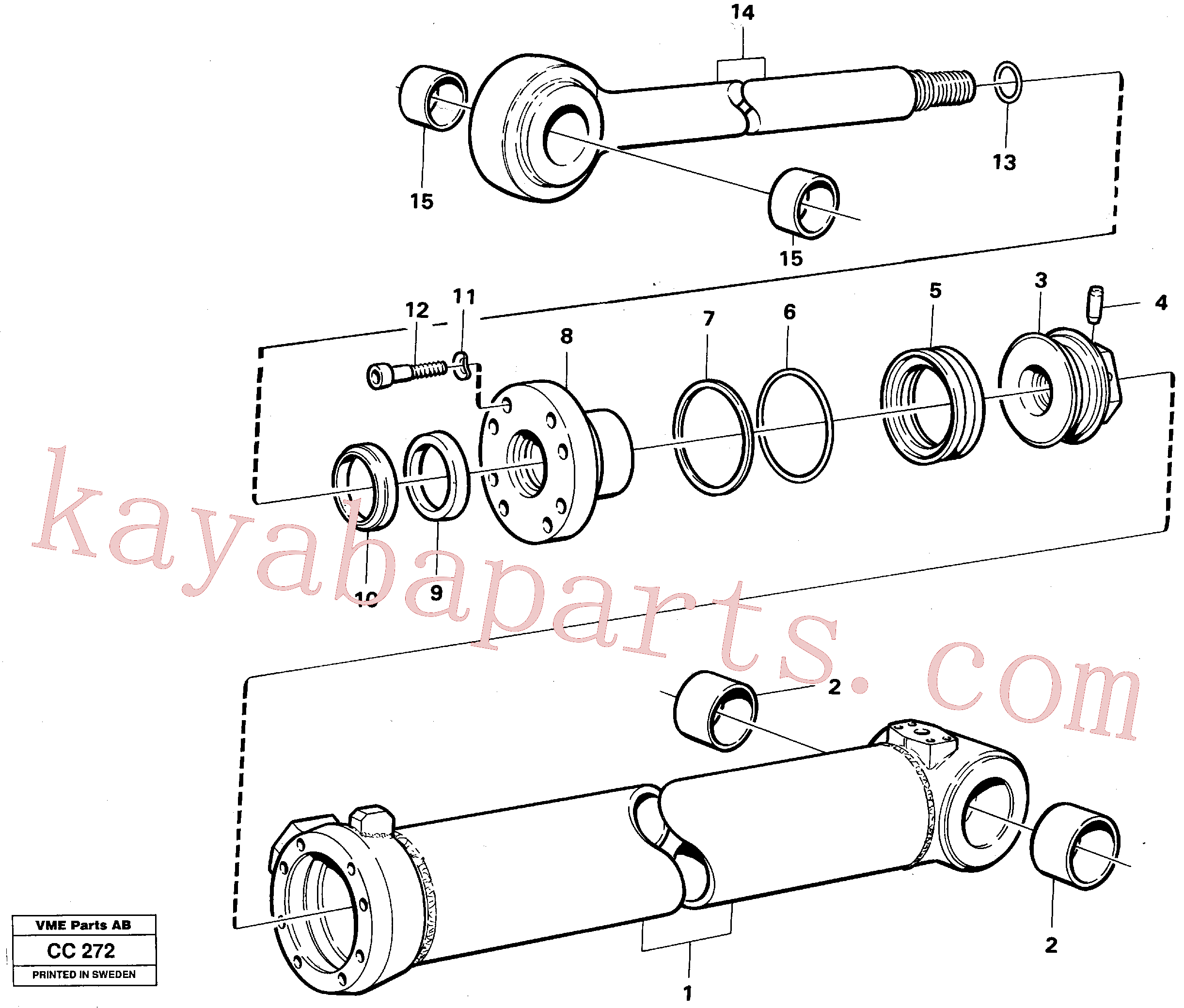VOE4782718 for Volvo Extendable dipper cylinder(CC272 assembly)