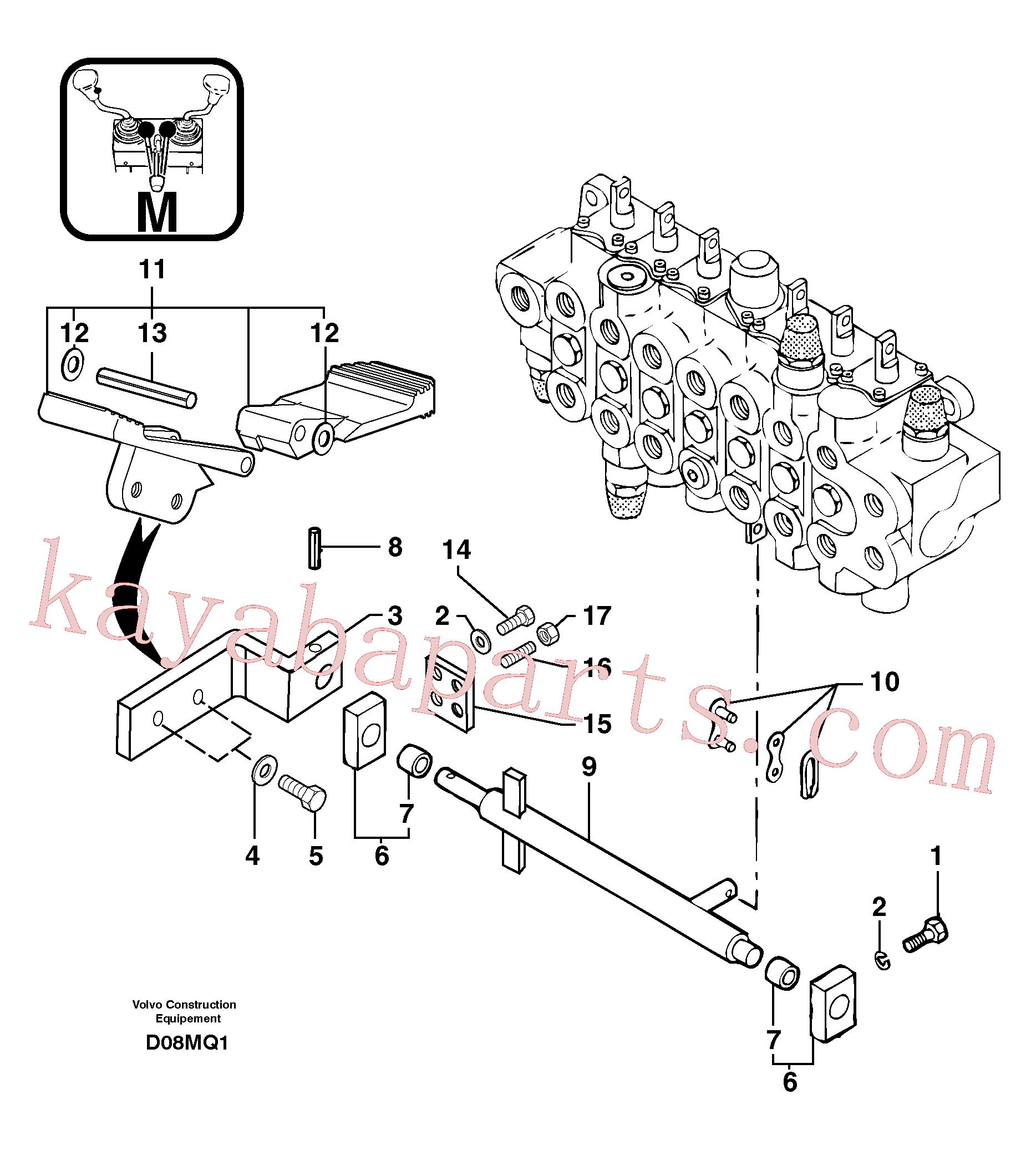 PJ4670001 for Volvo Control pedal : accessories(D08MQ1 assembly)