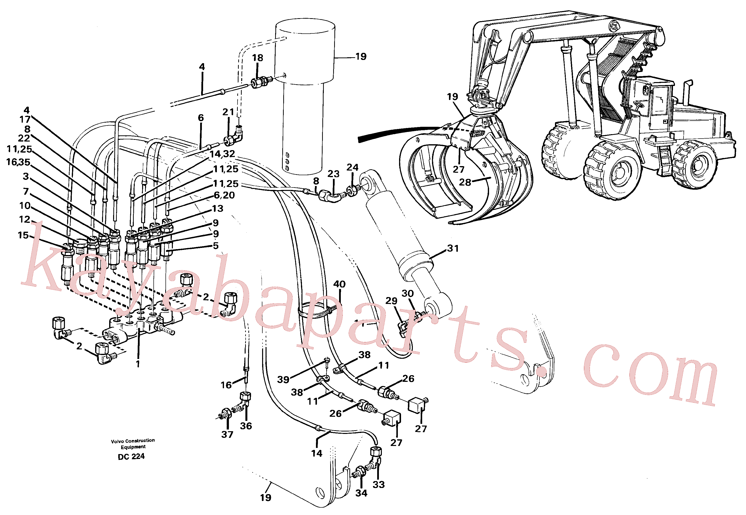 VOE13948745 for Volvo Distribution block, B6.(DC224 assembly)