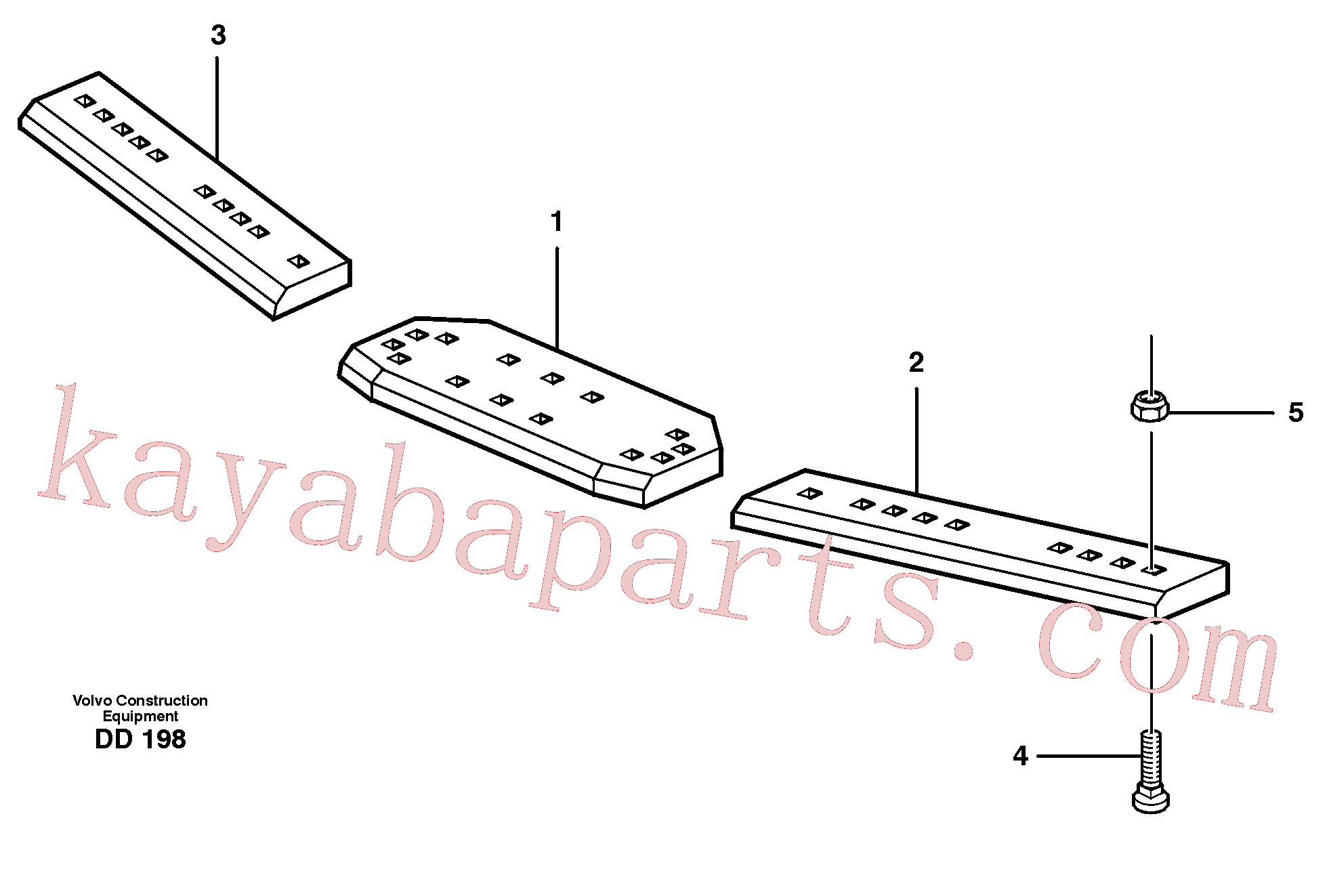 VOE13948902 for Volvo Bolt on edge(DD198 assembly)