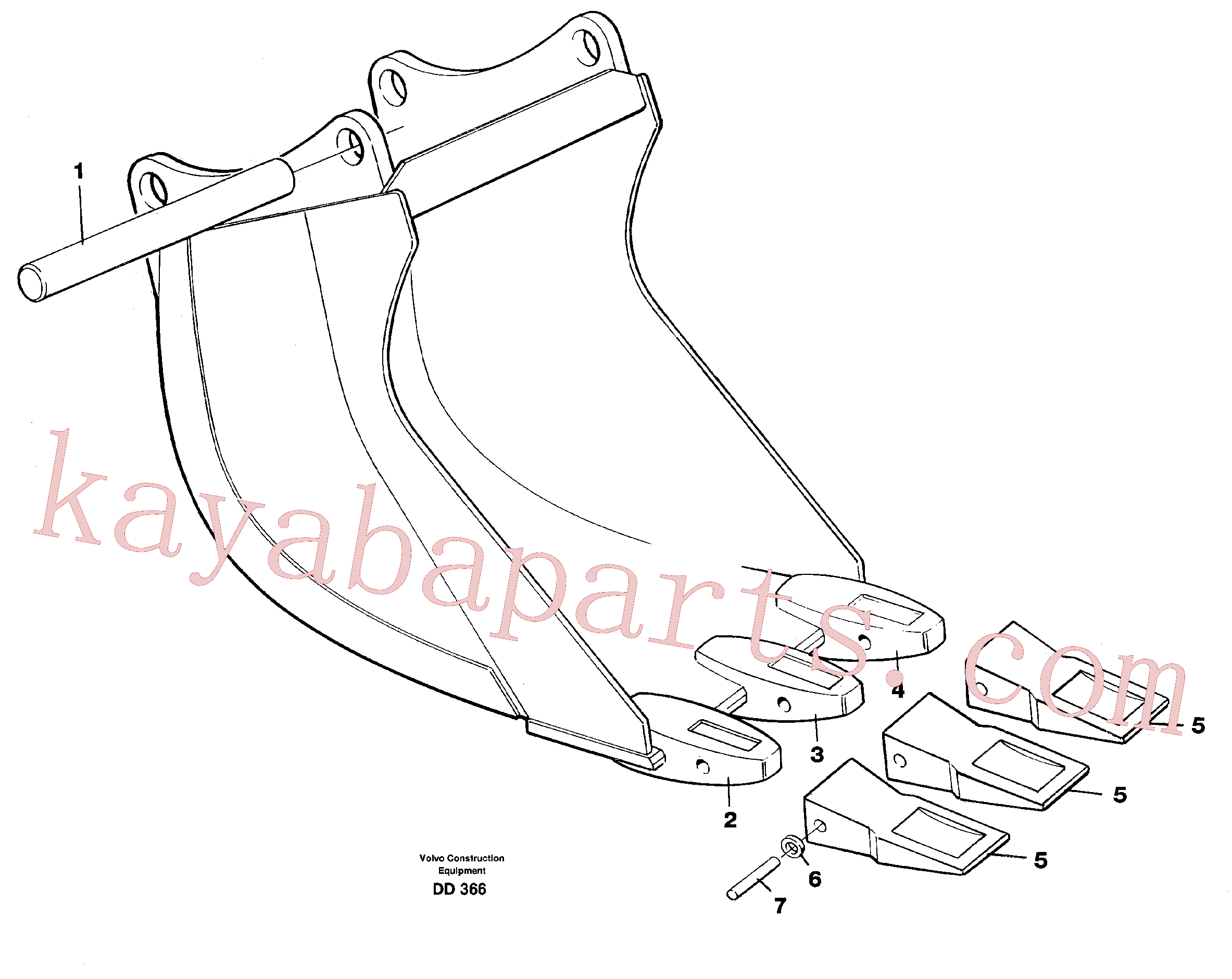 VOE14000879 for Volvo Cable bucket(DD366 assembly)