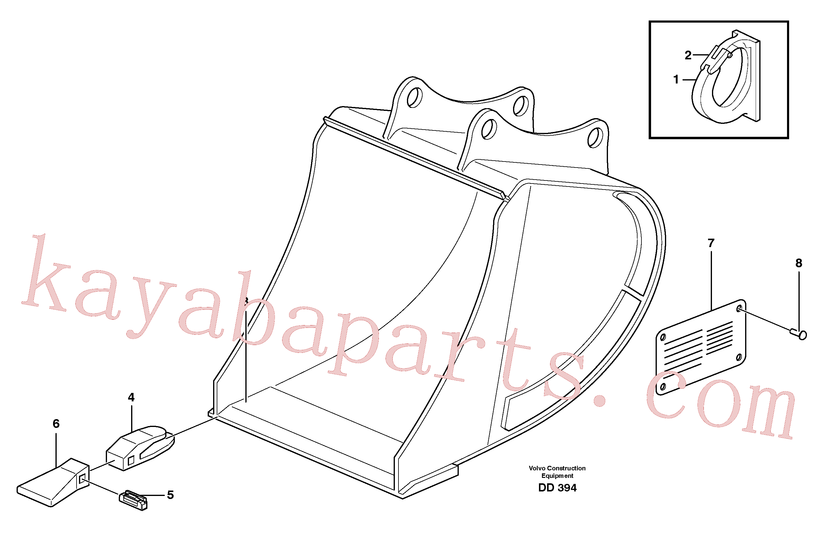 VOE14323212 for Volvo Buckets, direct fitting,combi Parts(DD394 assembly)