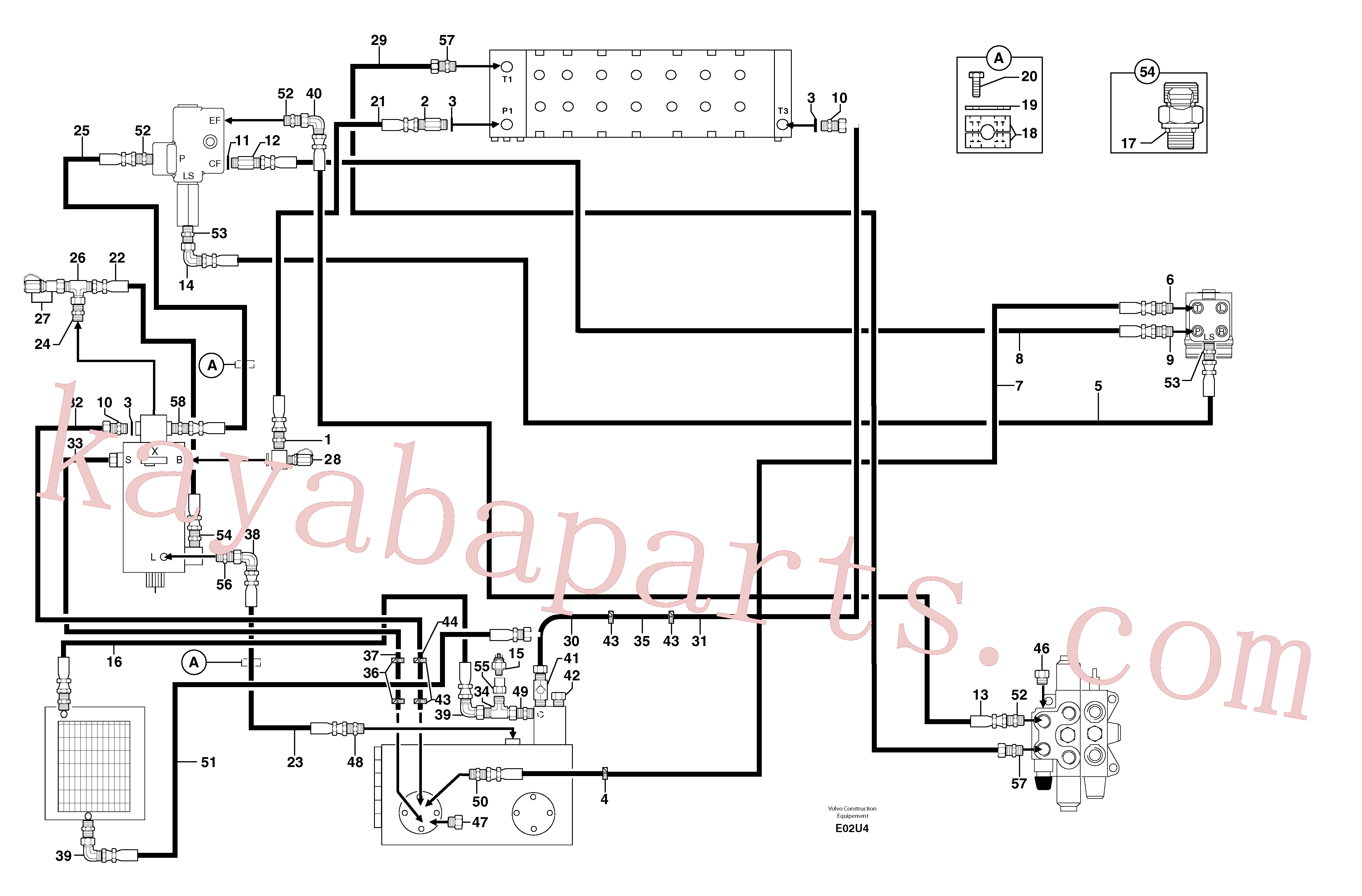 PJ6010154 for Volvo Attachments supply and return circuit(E02U4 assembly)