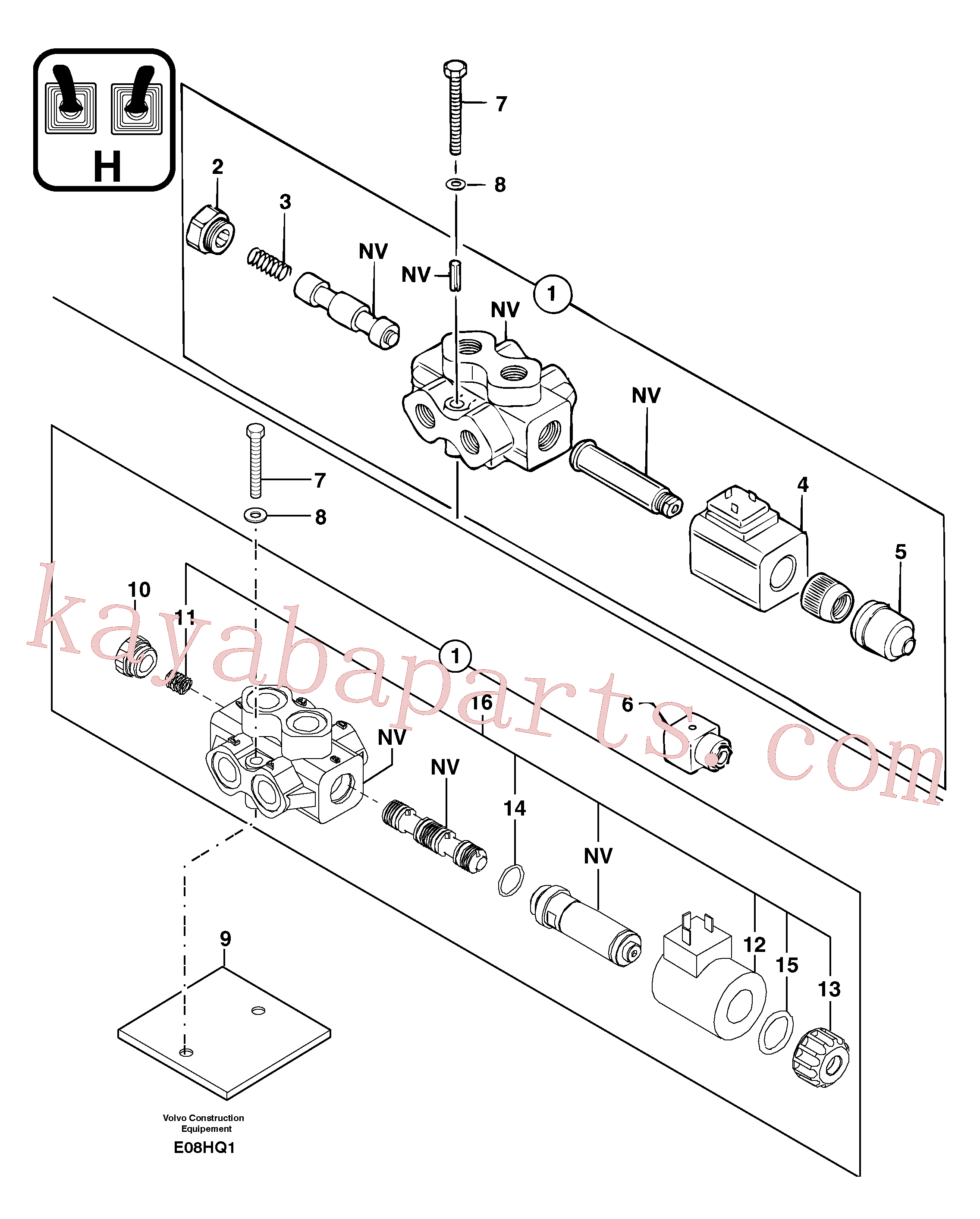 PJ7417883 for Volvo Slewing-offset selector switch(E08HQ1 assembly)