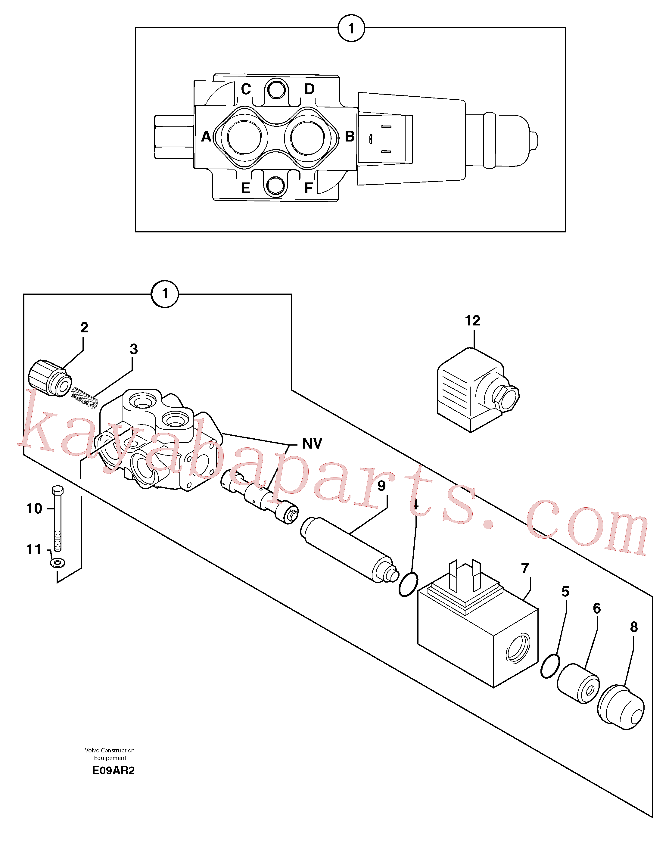 PJ7415994 for Volvo Slewing-offset selector switch ( for valve )(E09AR2 assembly)