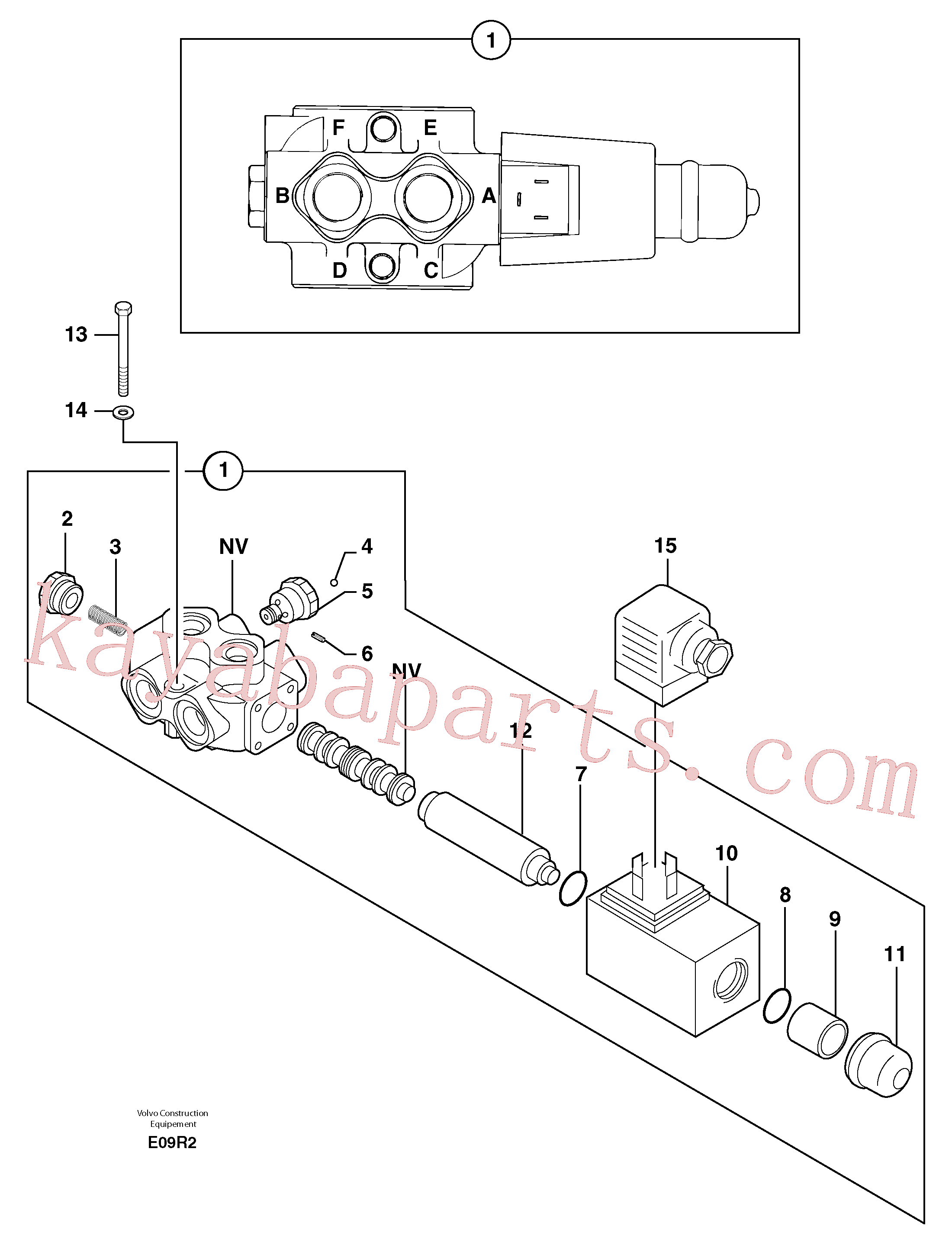 PJ7415994 for Volvo Slewing-offset selector switch(E09R2 assembly)