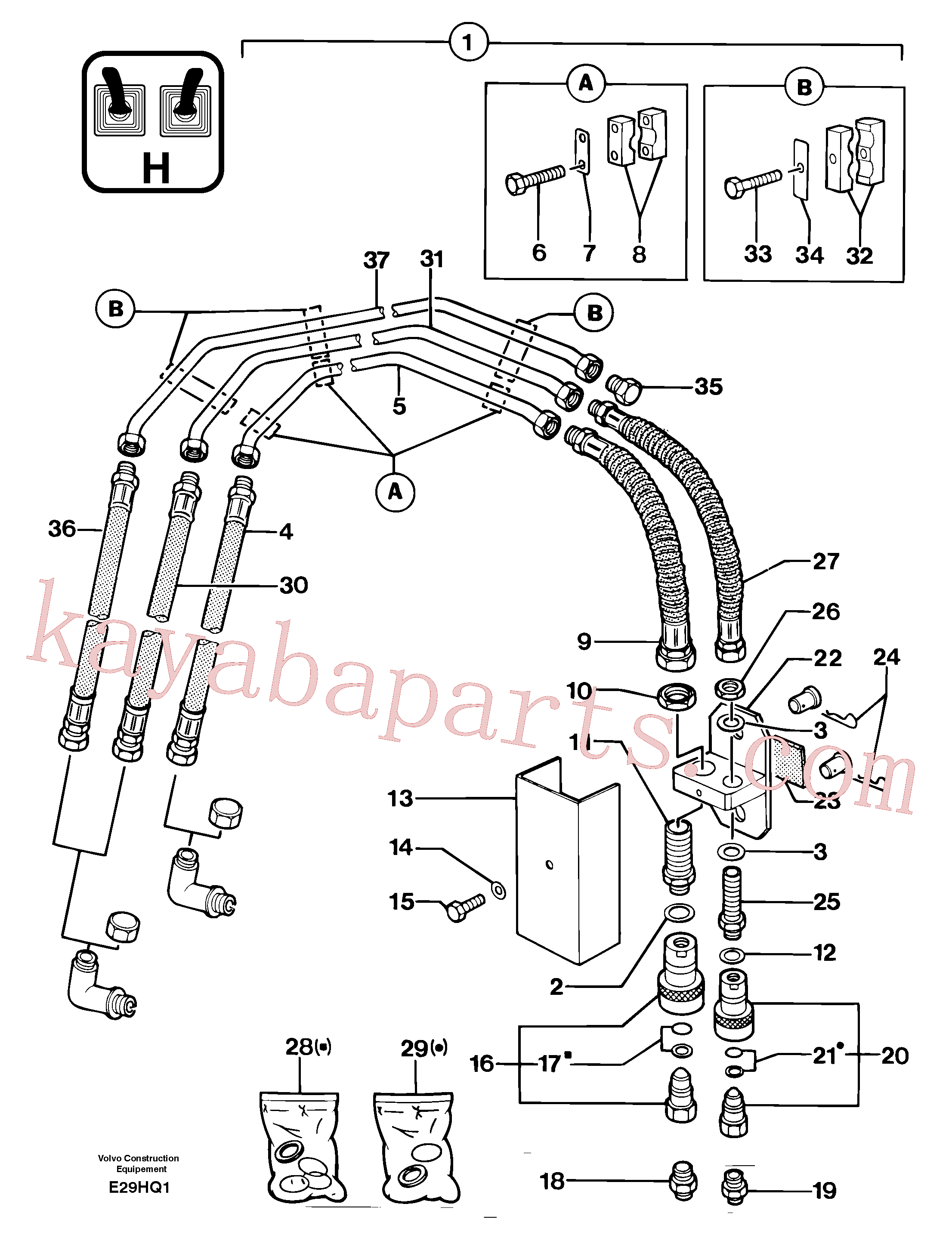 PJ4690123 for Volvo Hydraulic circuit ( accessories )(E29HQ1 assembly)