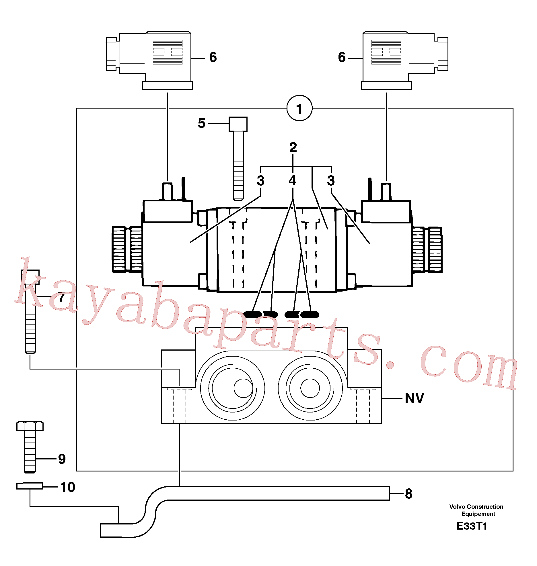 PJ4040197 for Volvo Electrovalve : accessories(E33T1 assembly)