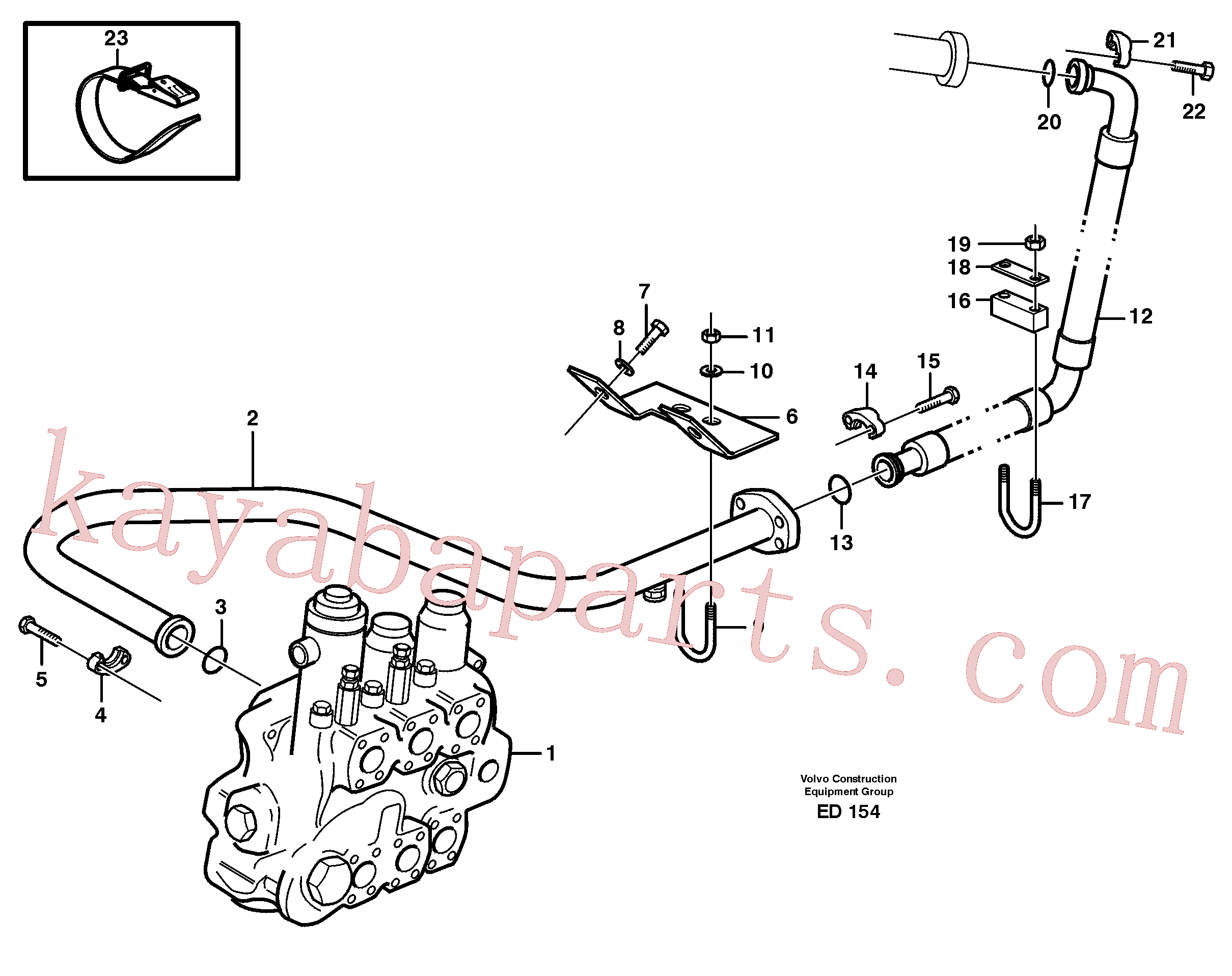 VOE968004 for Volvo Hydraulic system, return line(ED154 assembly)