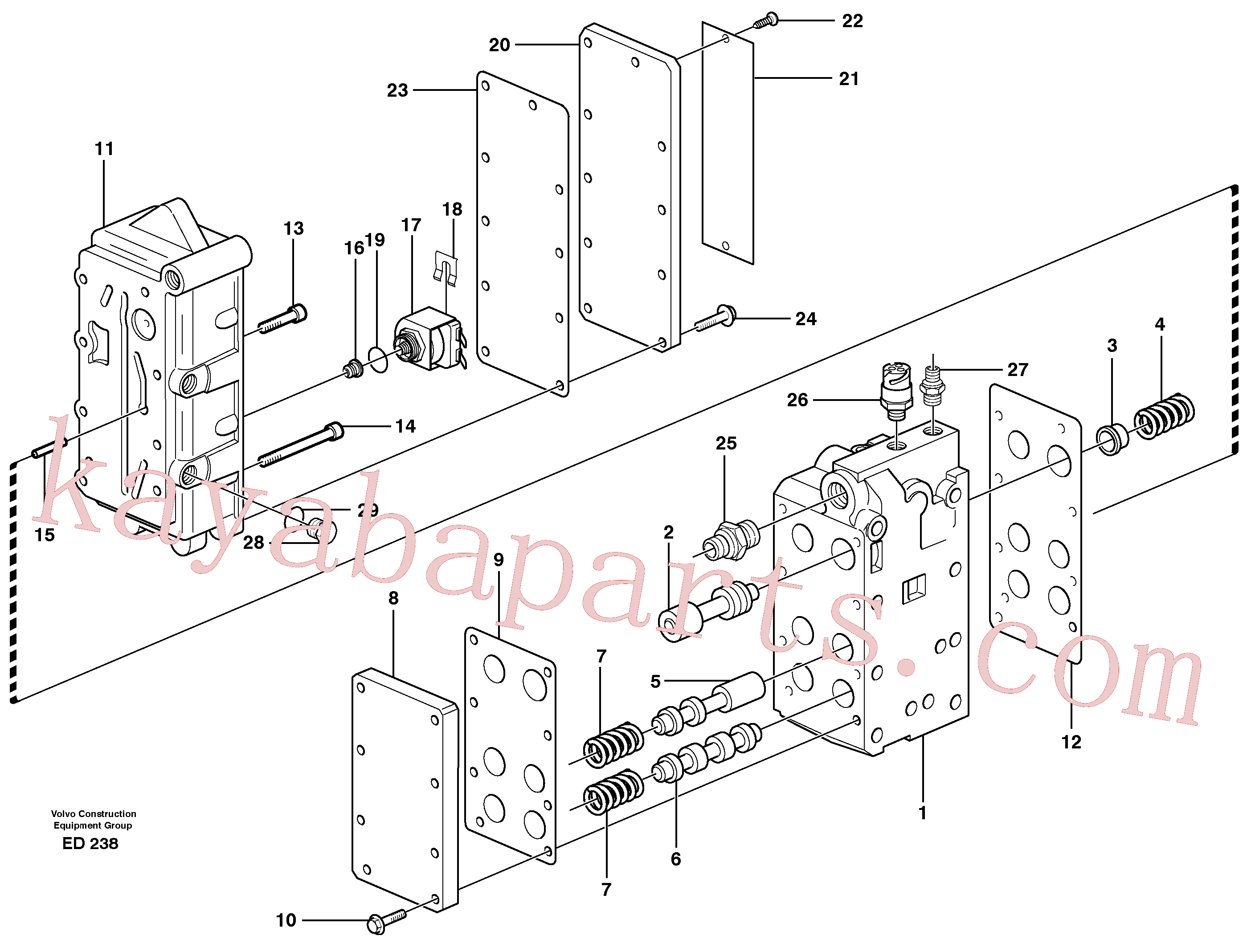VOE926370 for Volvo Gear selector valve(ED238 assembly)