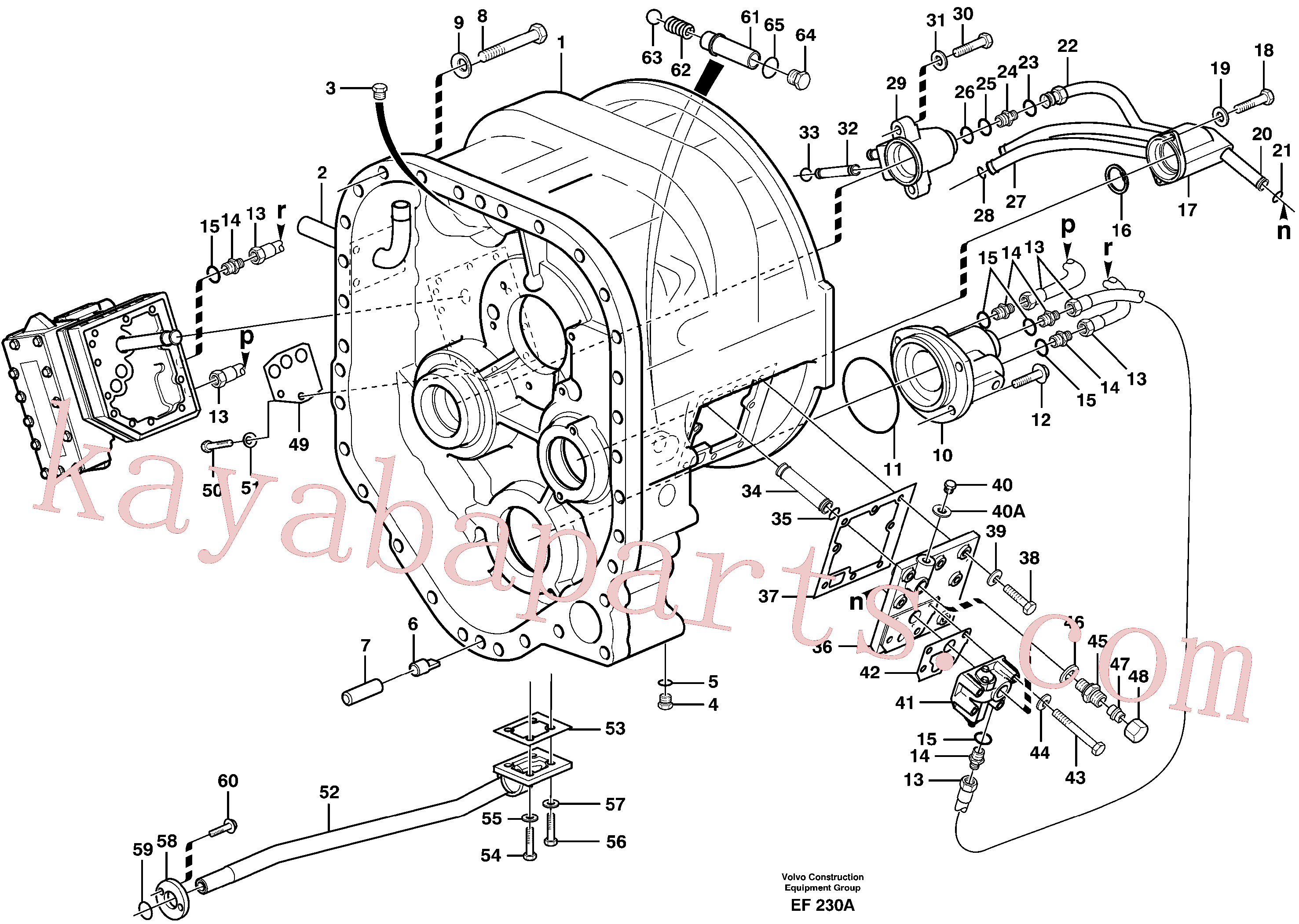 VOE926370 for Volvo Converter housing with fitting parts(EF230A assembly)