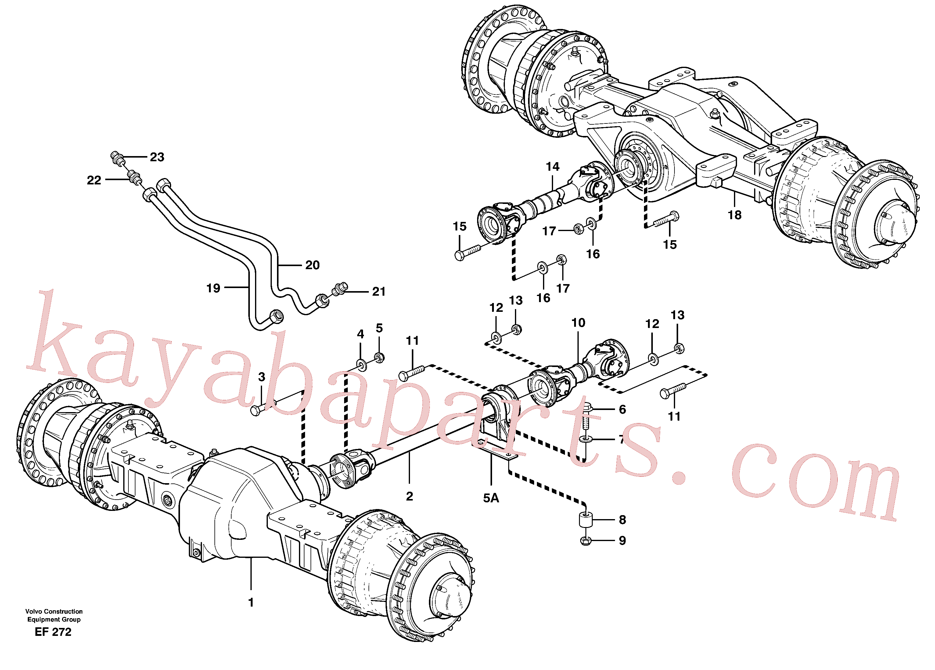VOE11026356 for Volvo Propeller shafts with fitting parts(EF272 assembly)