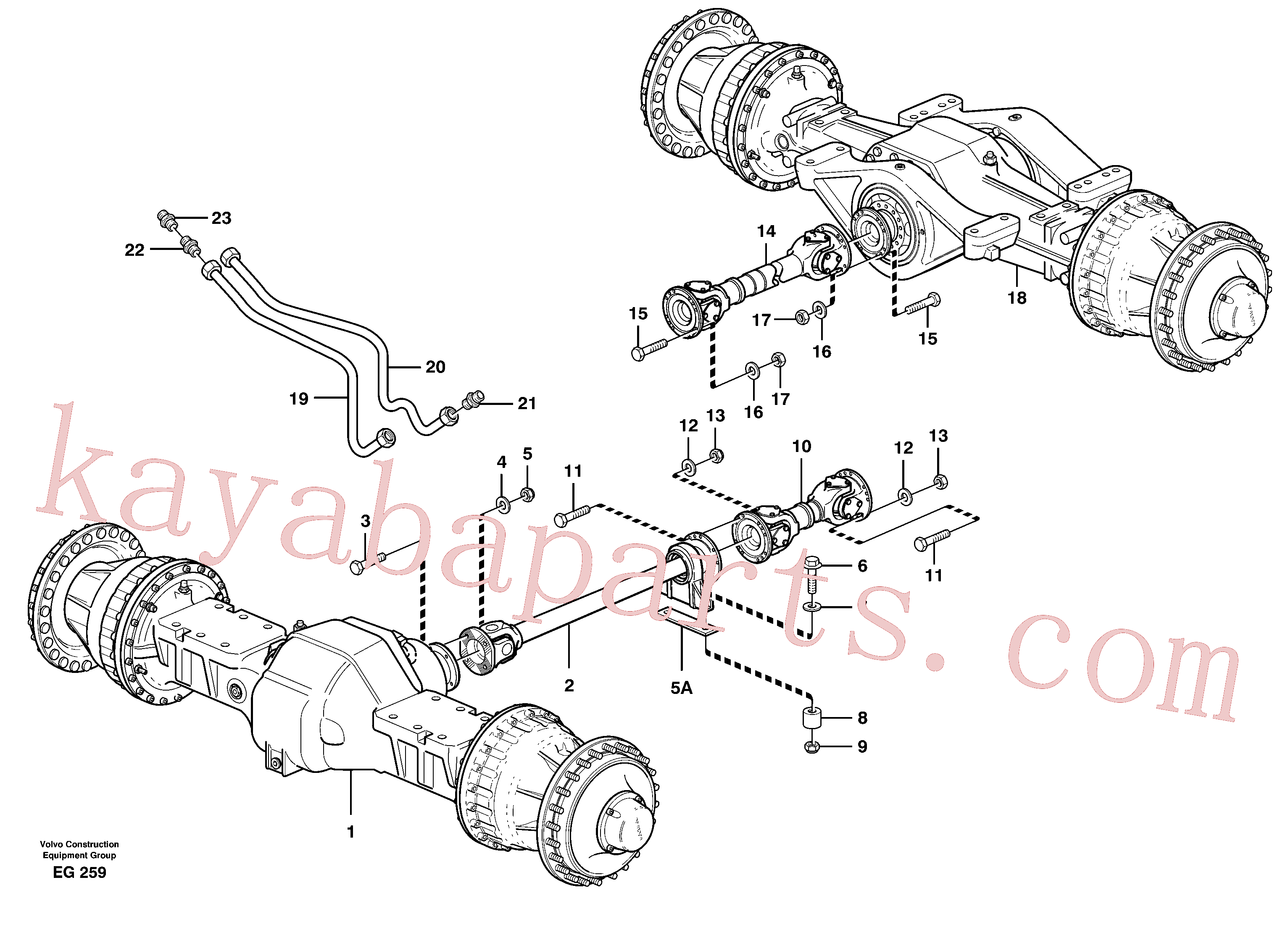 VOE11026356 for Volvo Propeller shafts with fitting parts(EG259 assembly)