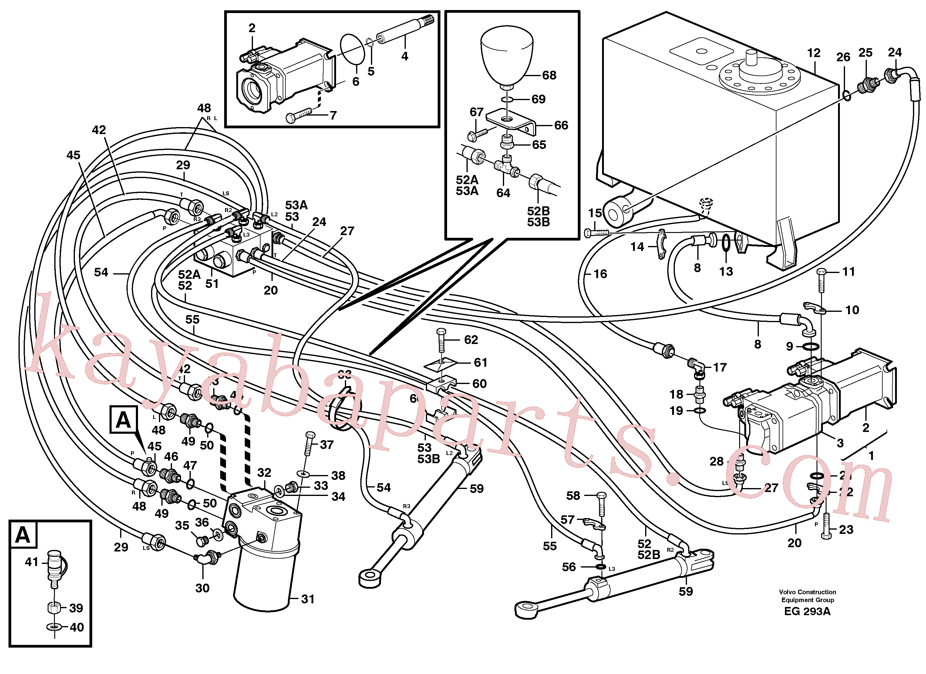 VOE993327 for Volvo Steering system(EG293A assembly)