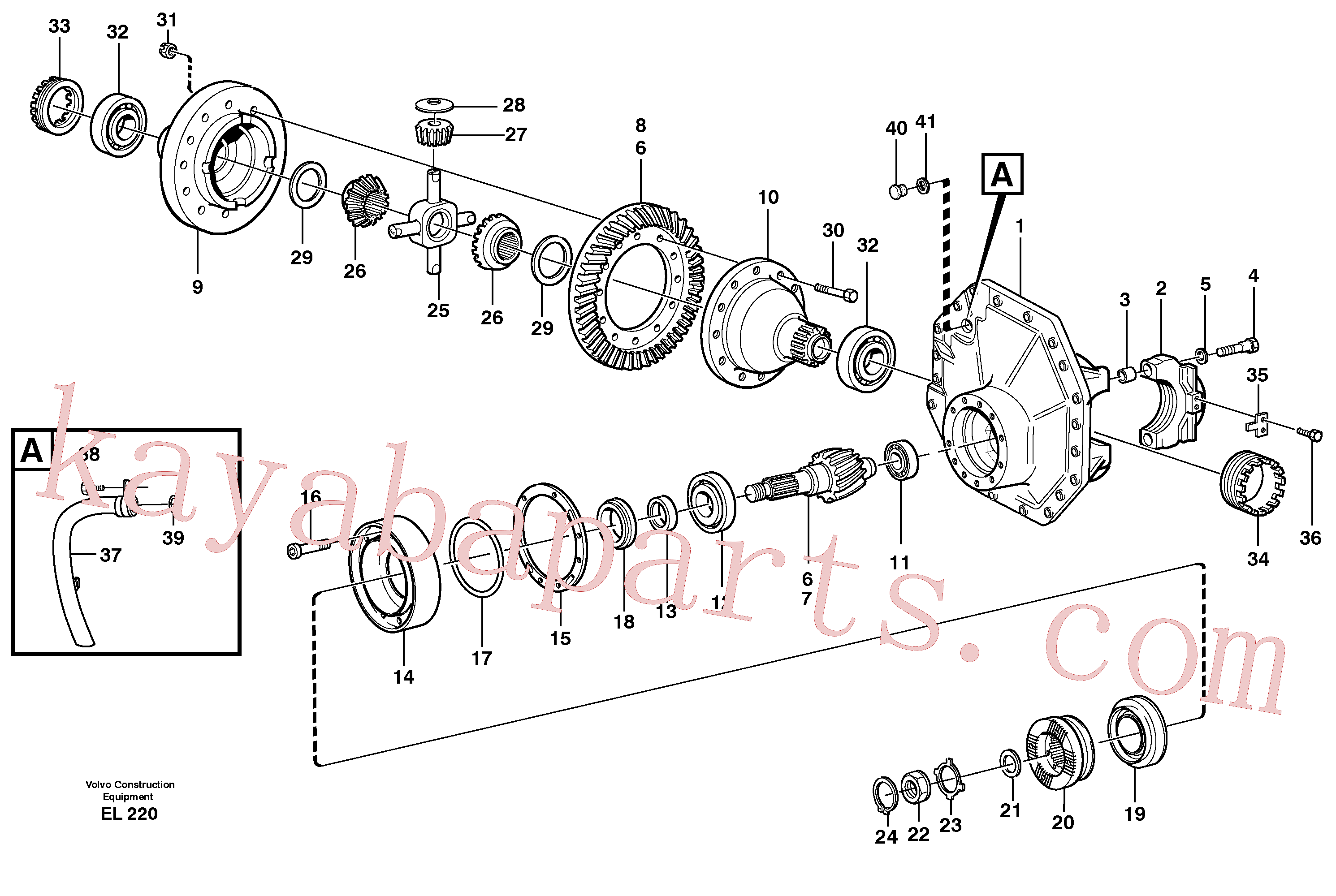 VOE946304 for Volvo Final drive, rear(EL220 assembly)