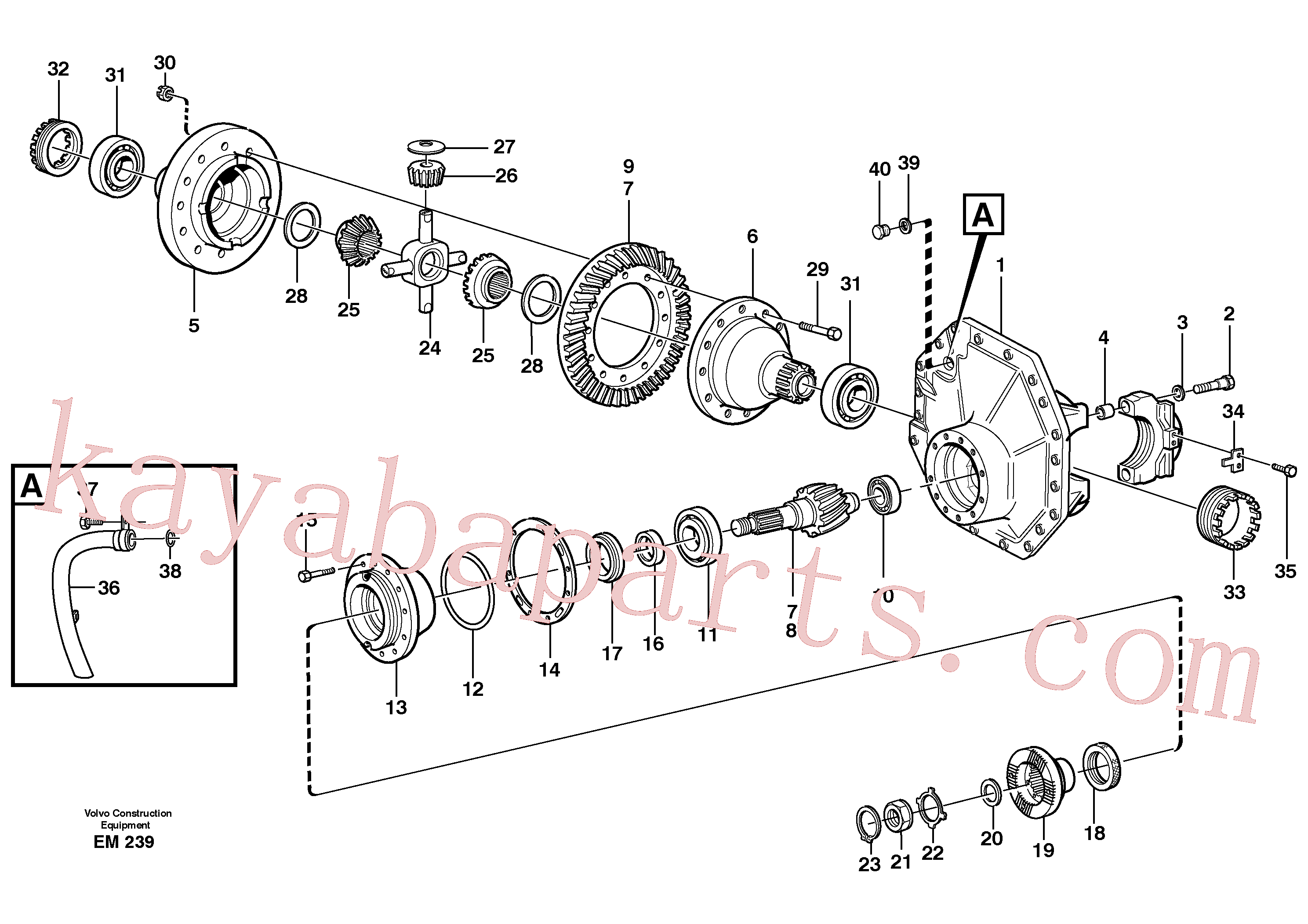 VOE1523233 for Volvo Final drive, front(EM239 assembly)