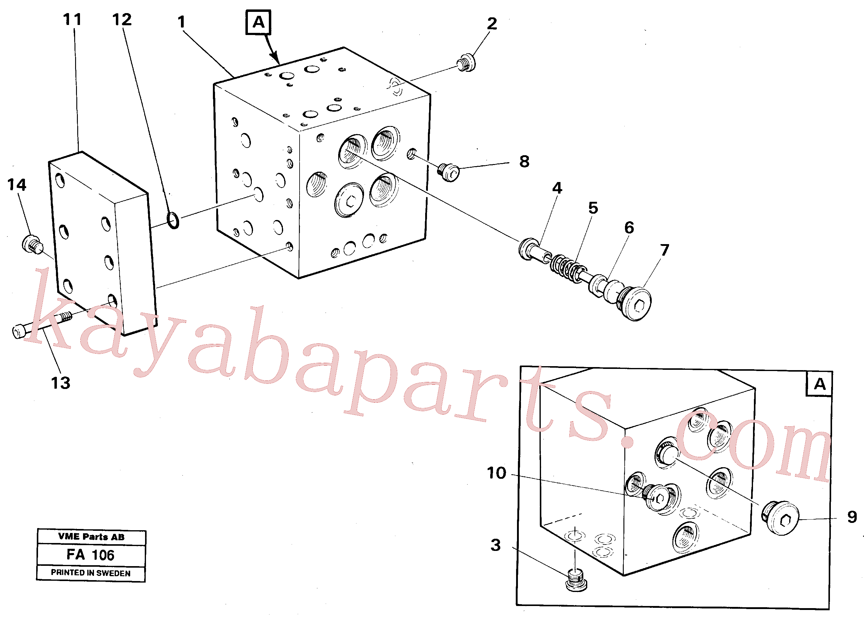 VOE14241311 for Volvo Slew valve block(FA106 assembly)