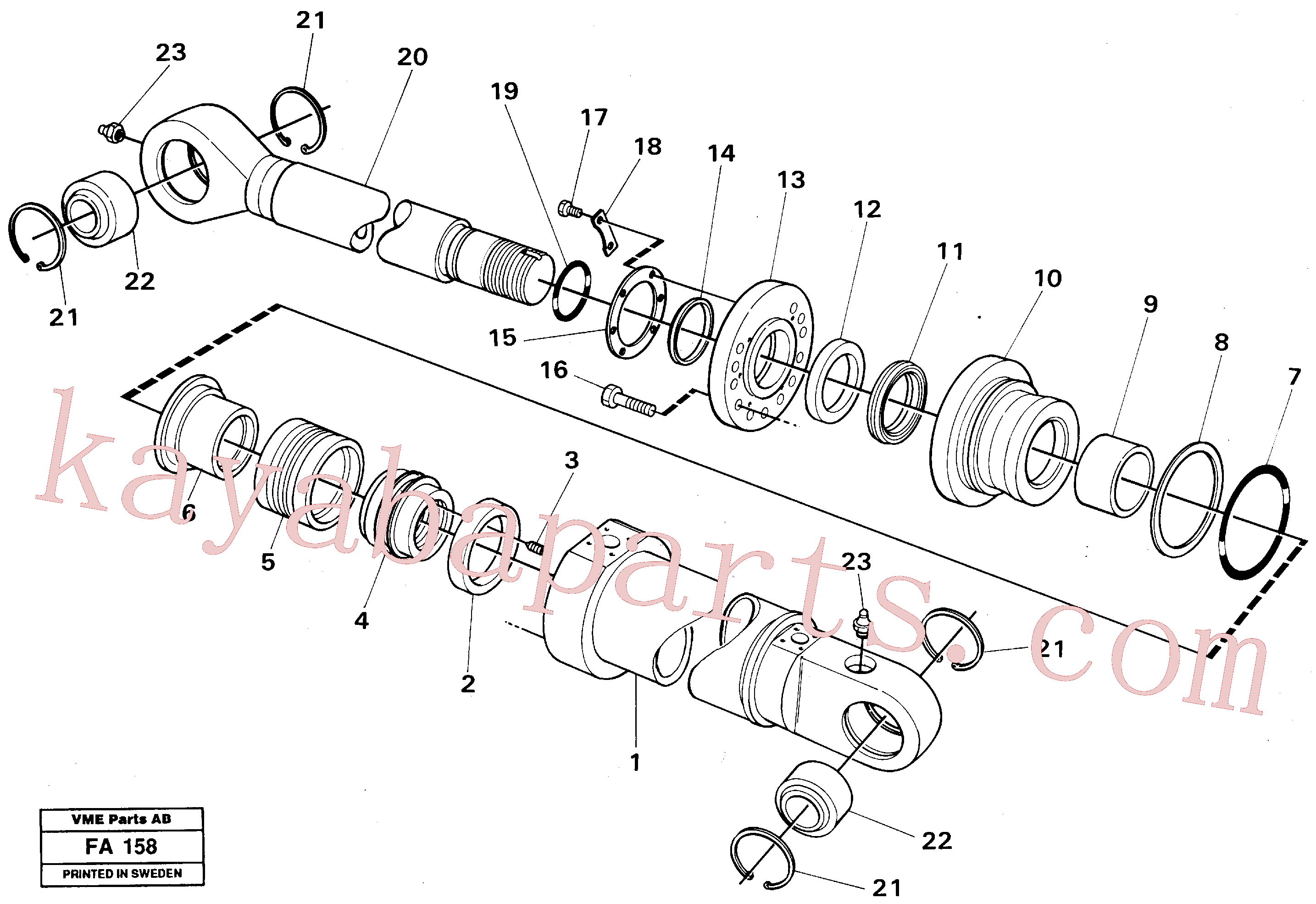 VOE14235219 for Volvo Knuckle cyl. Front shovel cyl.(FA158 assembly)