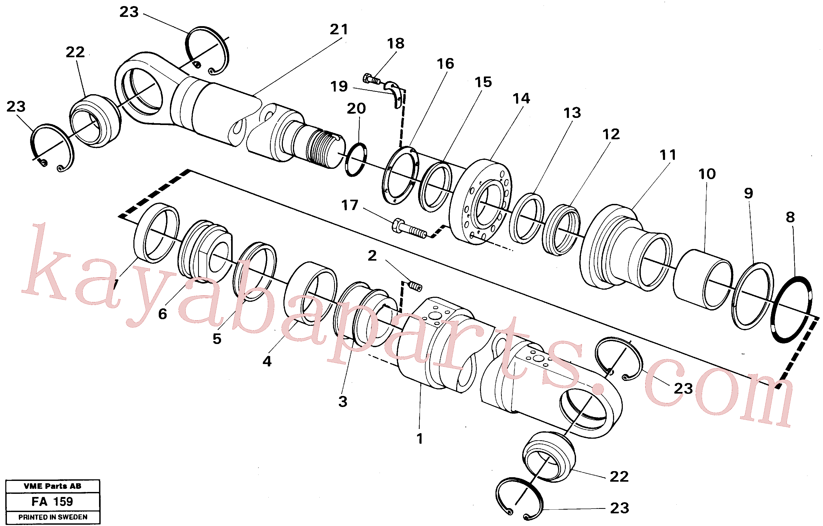 VOE14237763 for Volvo Dipper arm cylinder Material handle equipm.(FA159 assembly)