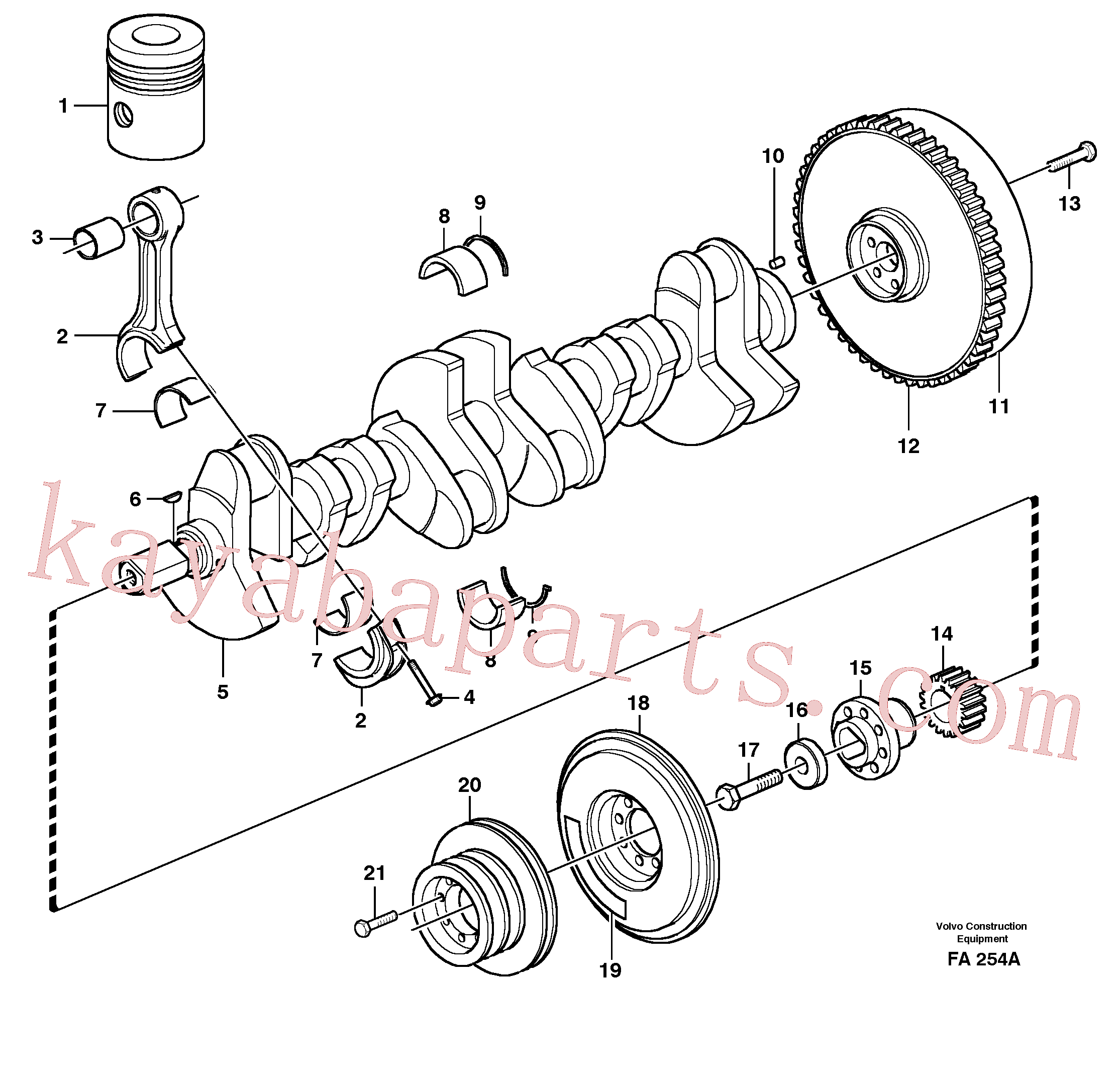 SA9324-21617 for Volvo Crankshaft and related parts(FA254A assembly)