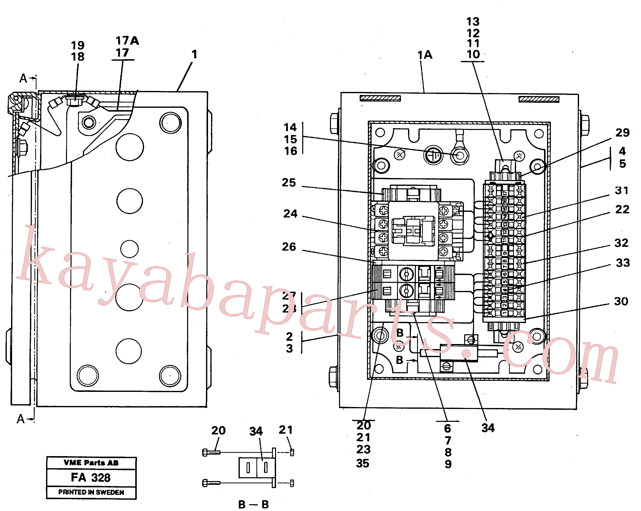 VOE14213801 for Volvo Magnet equipment Ohio, Electrical distribution unit(FA328 assembly)