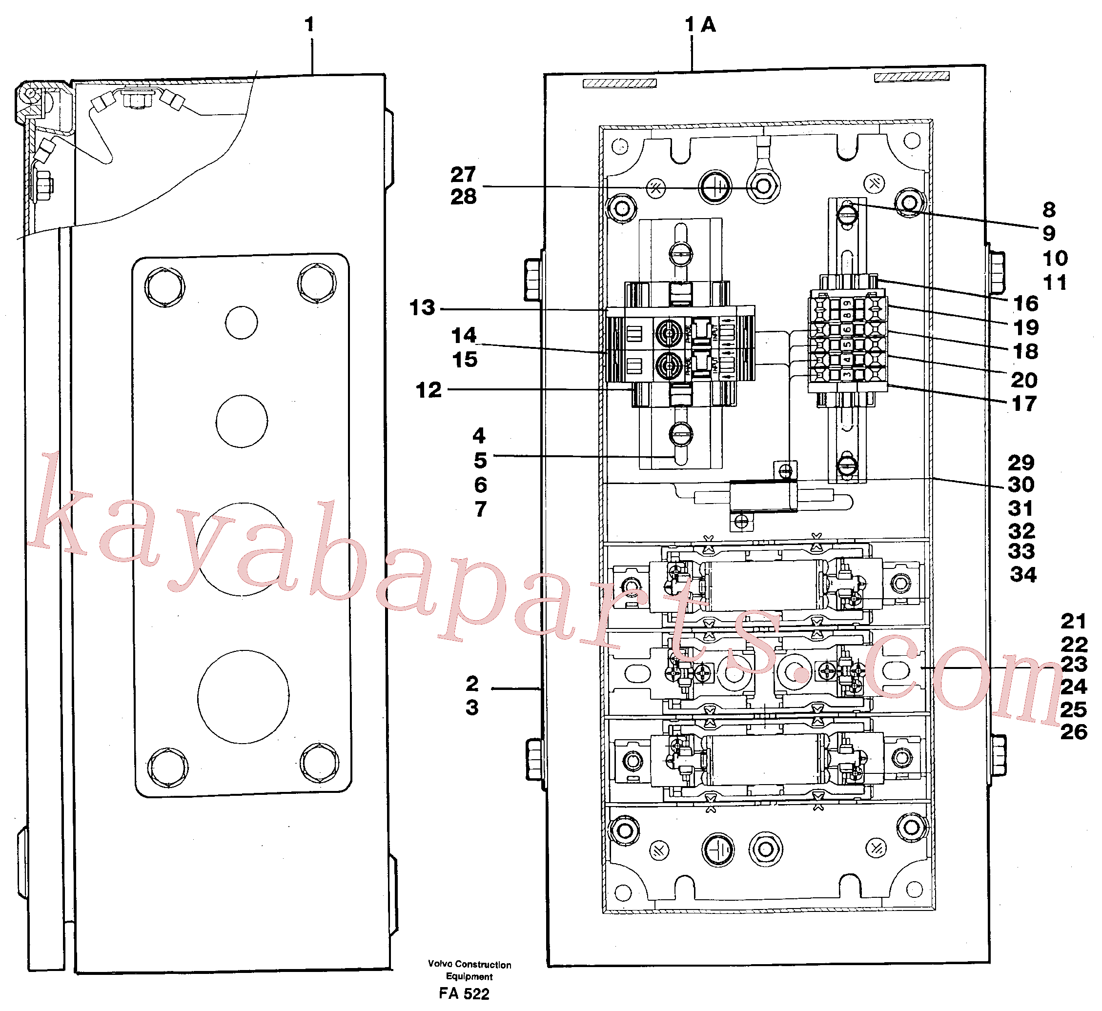 VOE14213801 for Volvo Magnet equipment Älmhult,electric distr. unit(FA522 assembly)