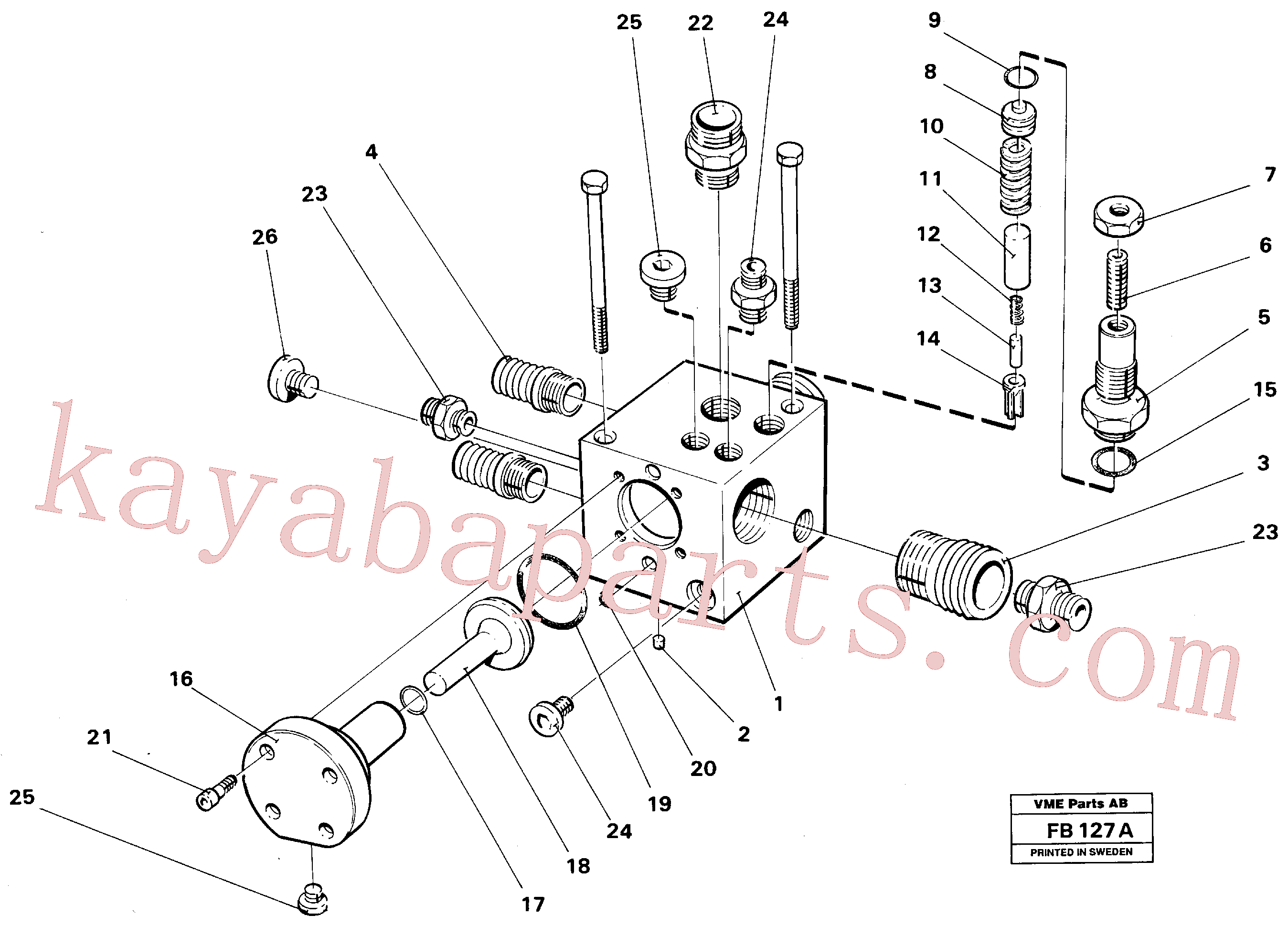 VOE14023176 for Volvo Shunt valve(FB127A assembly)