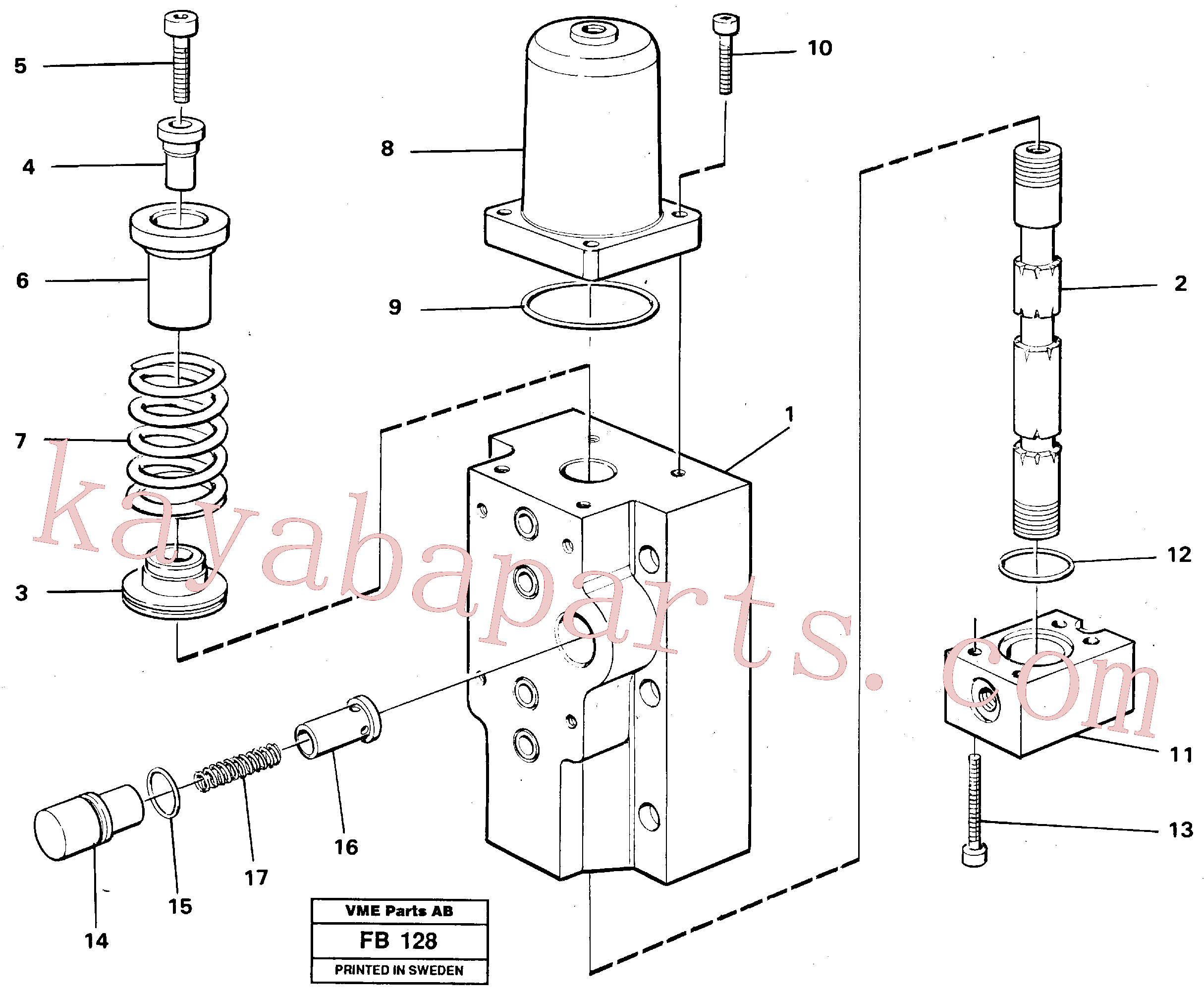 VOE14258011 for Volvo Four-way valves Primary(FB128 assembly)