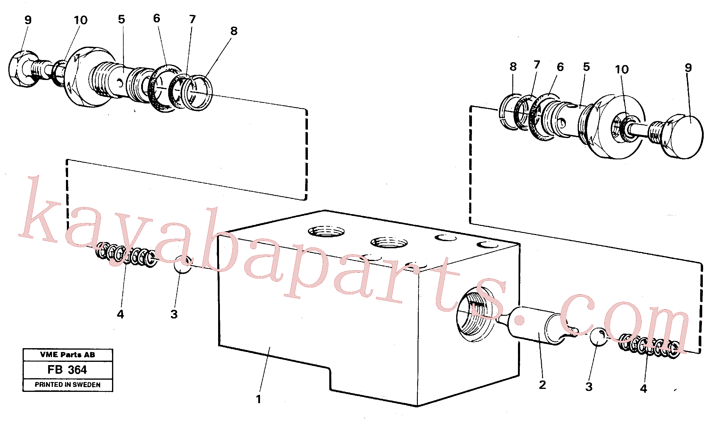 VOE14233681 for Volvo Hydraulic lock, outriggers(FB364 assembly)