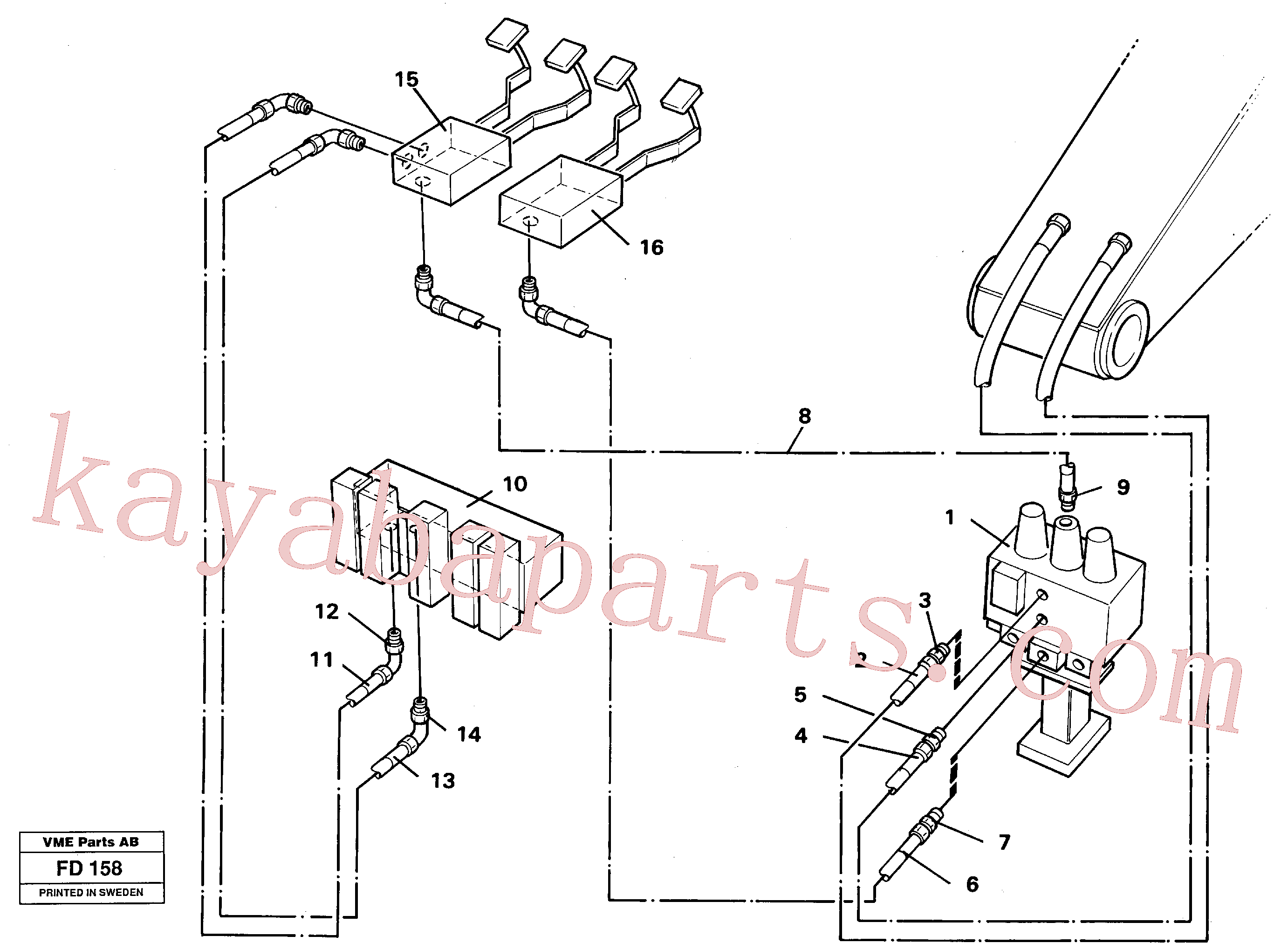 VOE14213151 for Volvo Slope/grab equipment, base machine(FD158 assembly)
