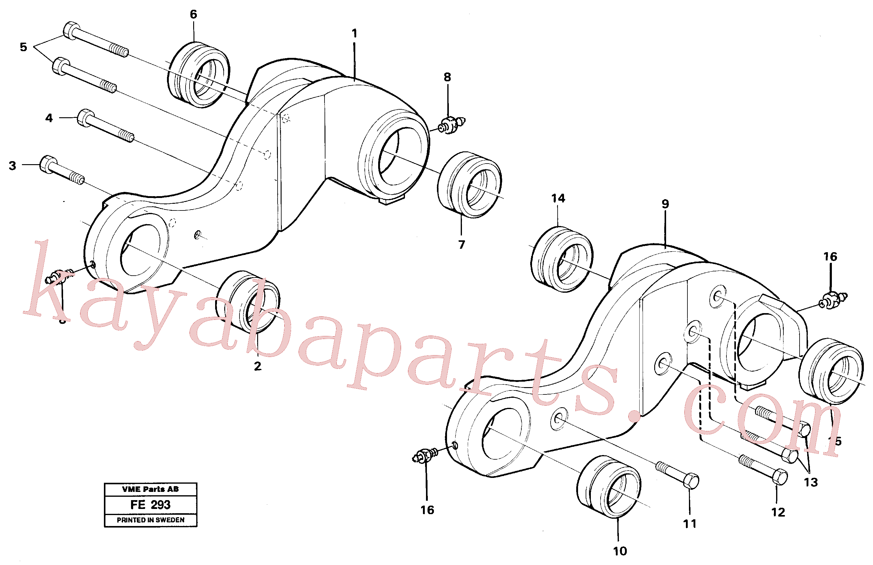 VOE14259351 for Volvo Lever(FE293 assembly)