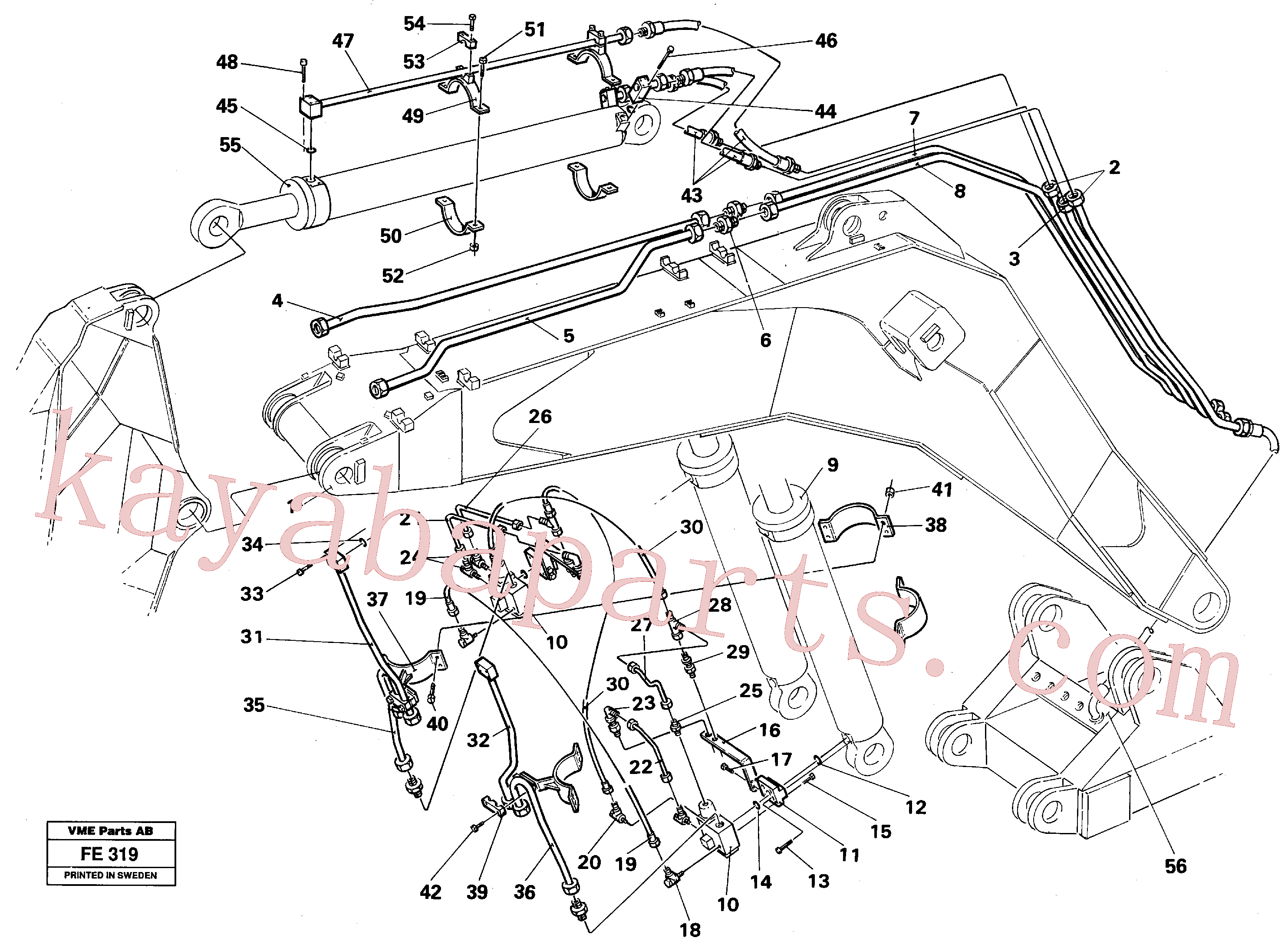VOE14054870 for Volvo Hydraulic system, backhoeboom, Mass Excavation(FE319 assembly)