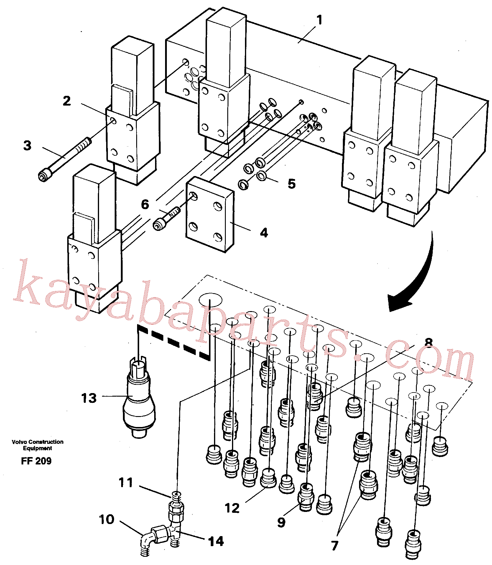 VOE14023407 for Volvo Stop control block(FF209 assembly)
