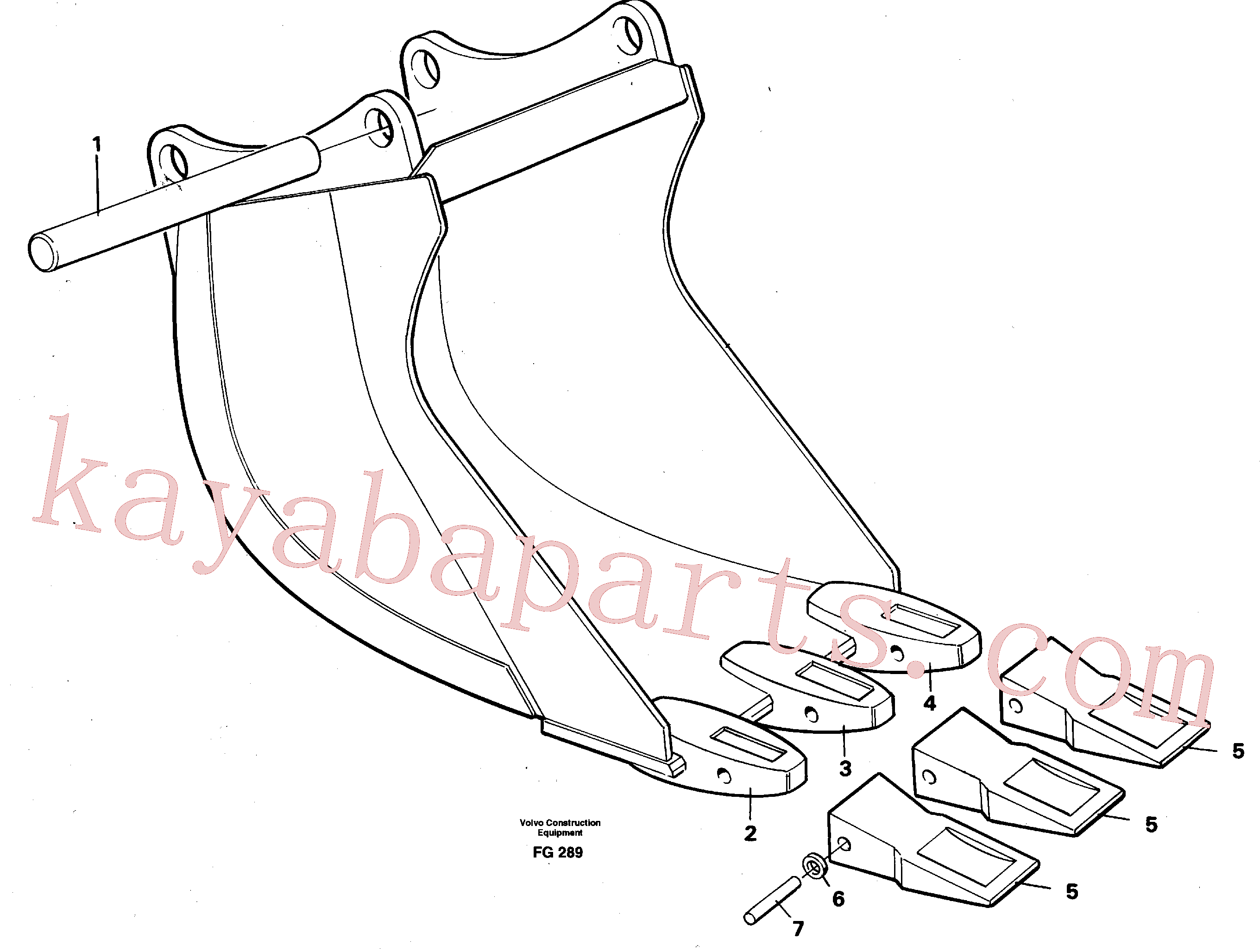 VOE14000879 for Volvo Cable bucket(FG289 assembly)