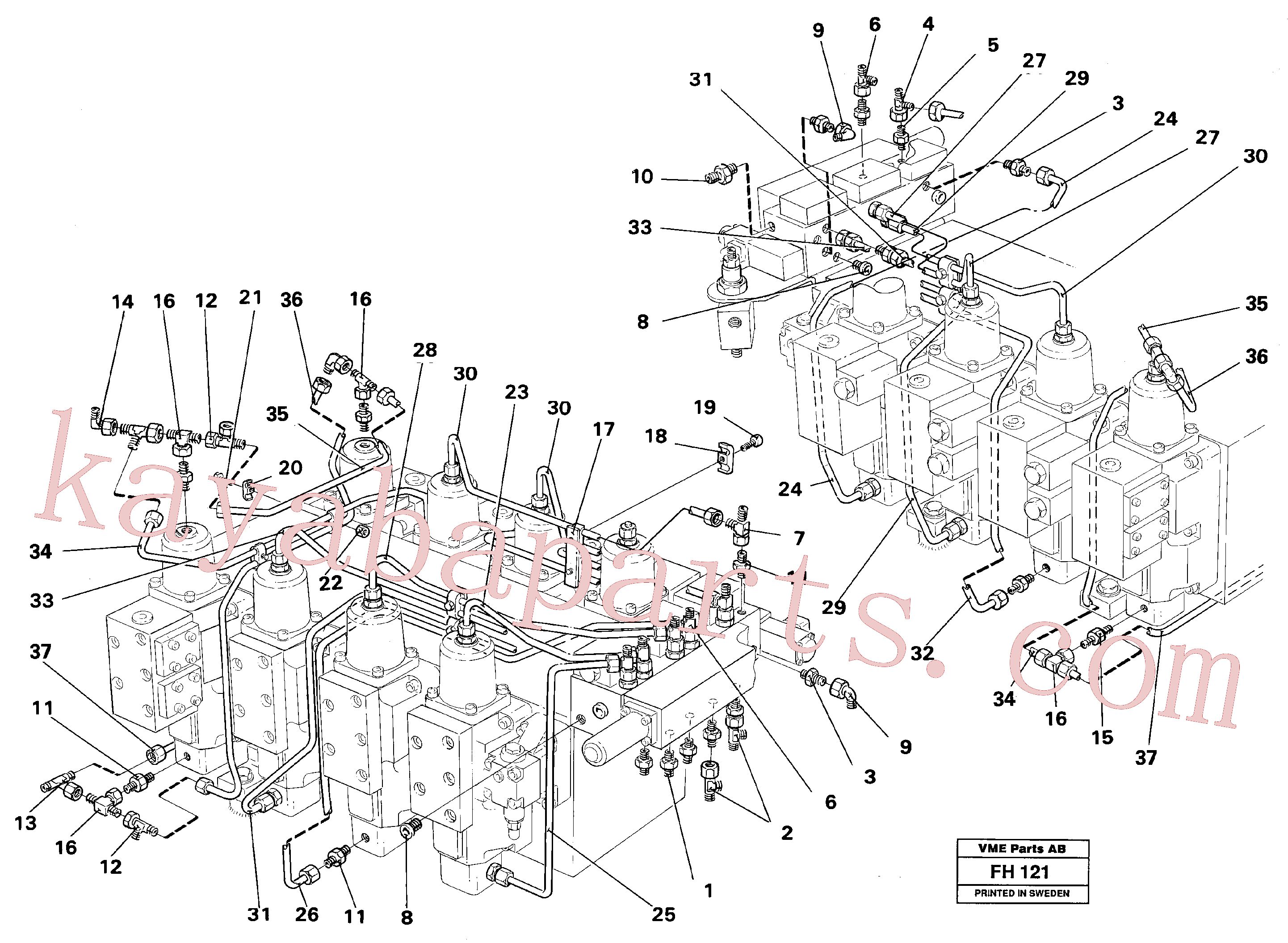 VOE13964042 for Volvo Main valve assembly, tubes connections(FH121 assembly)