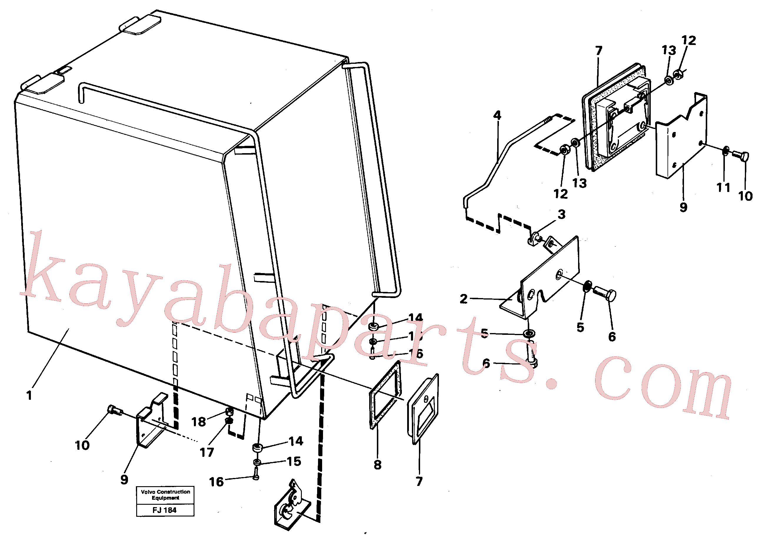 VOE14016532 for Volvo Casing over battery(FJ184 assembly)
