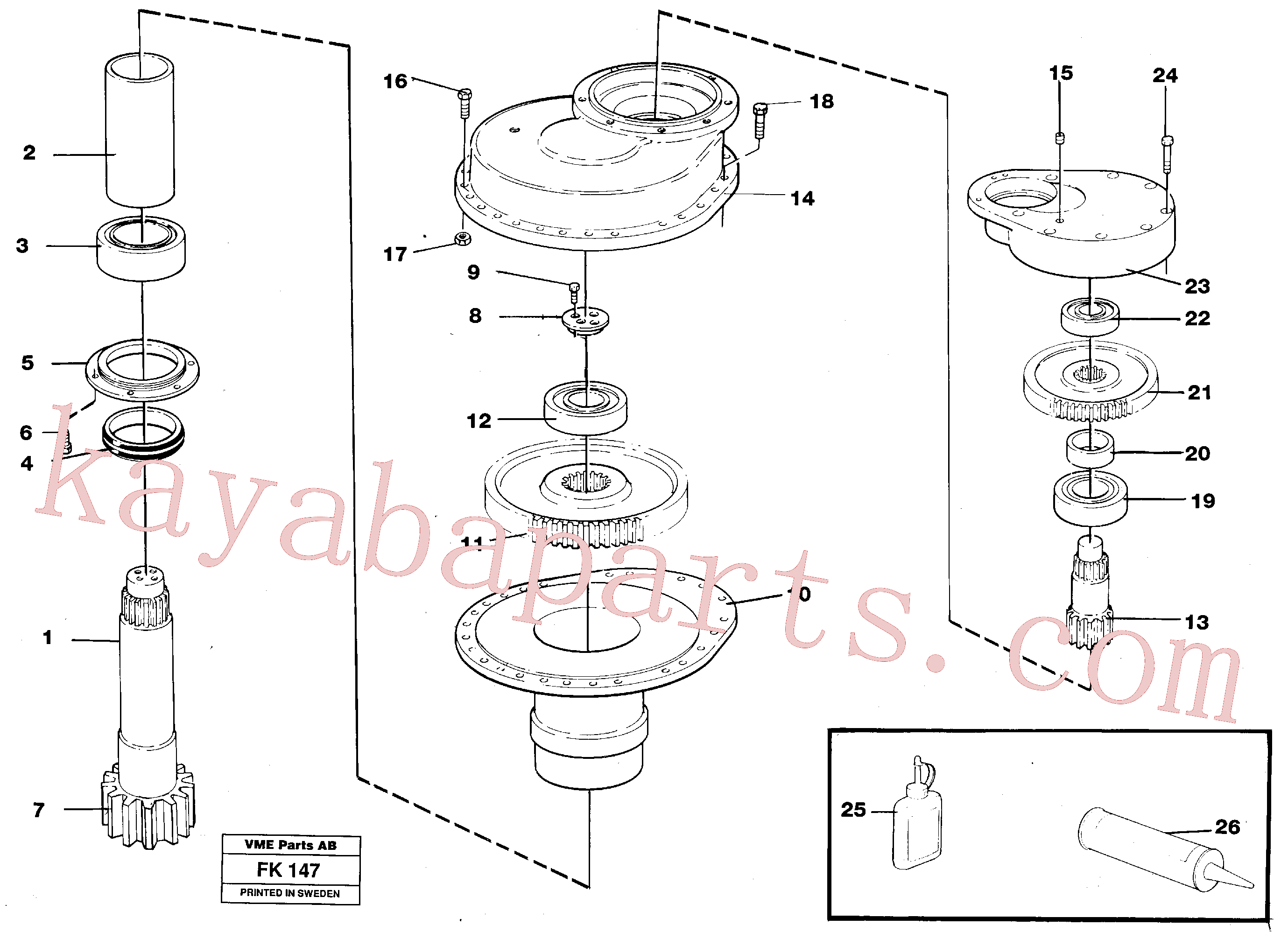 VOE955785 for Volvo Swing gearbox(FK147 assembly)