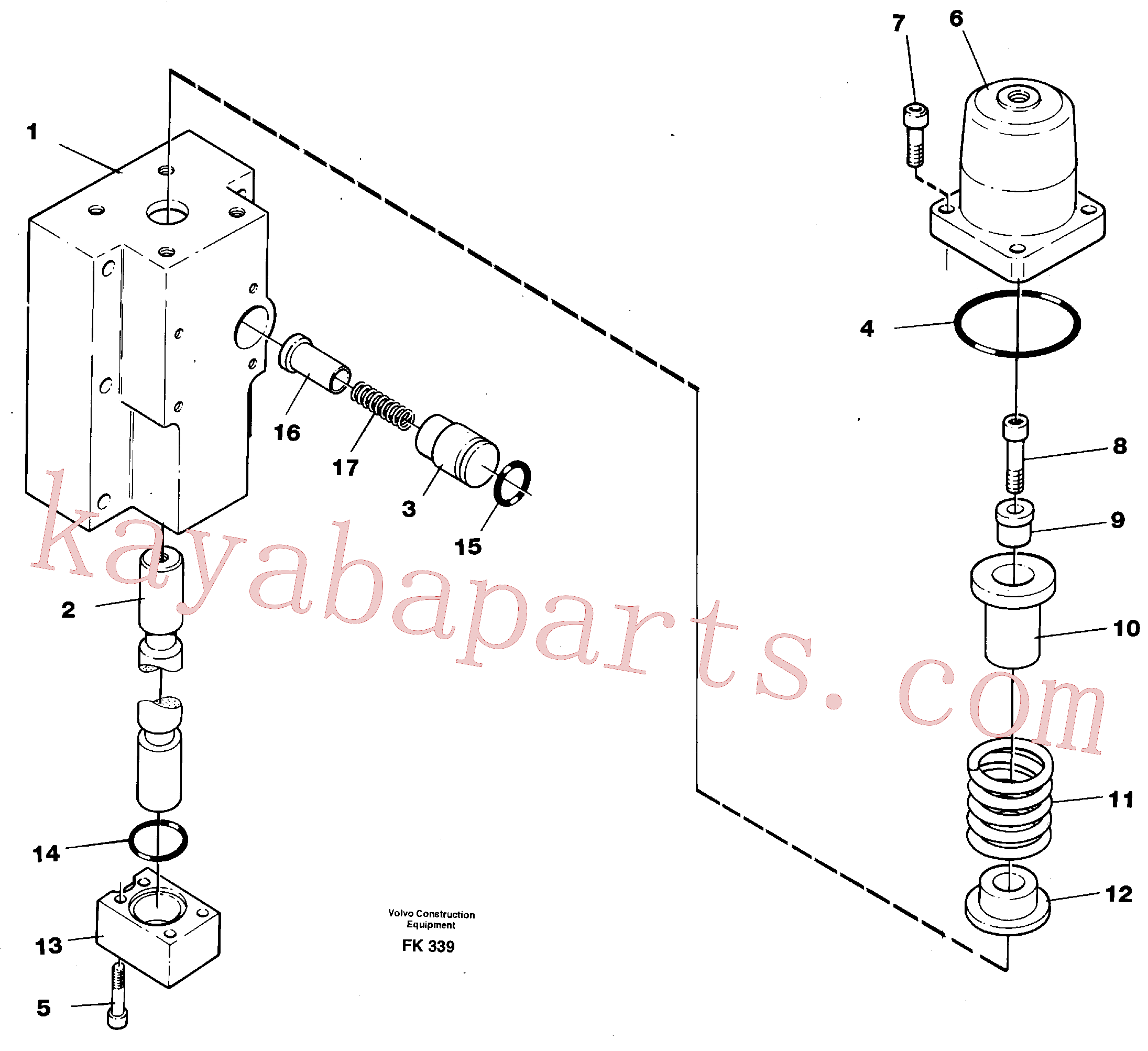 VOE14266570 for Volvo Four-way valve, dipper primary(FK339 assembly)
