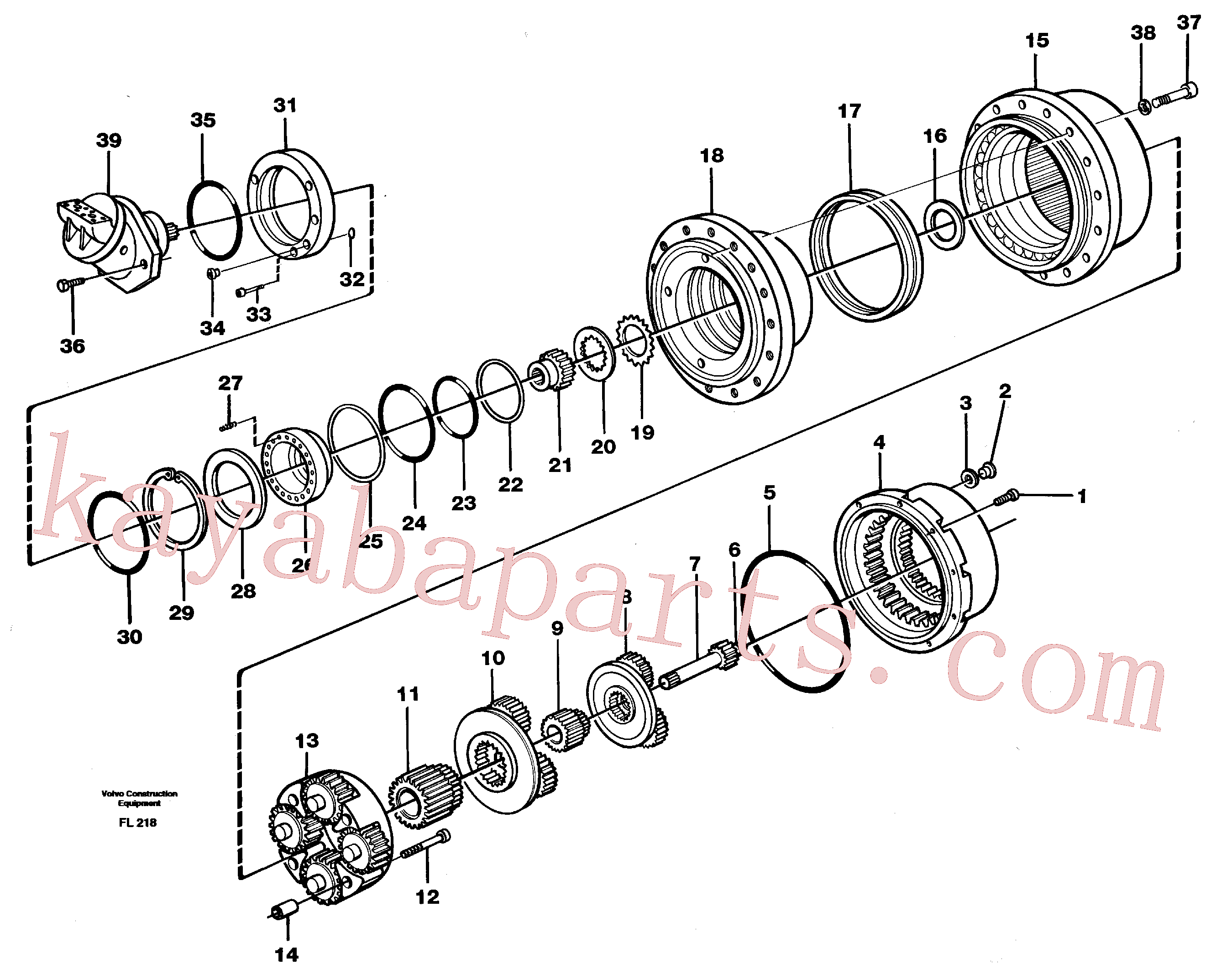VOE11713105 for Volvo Planetary gear, travel(FL218 assembly)