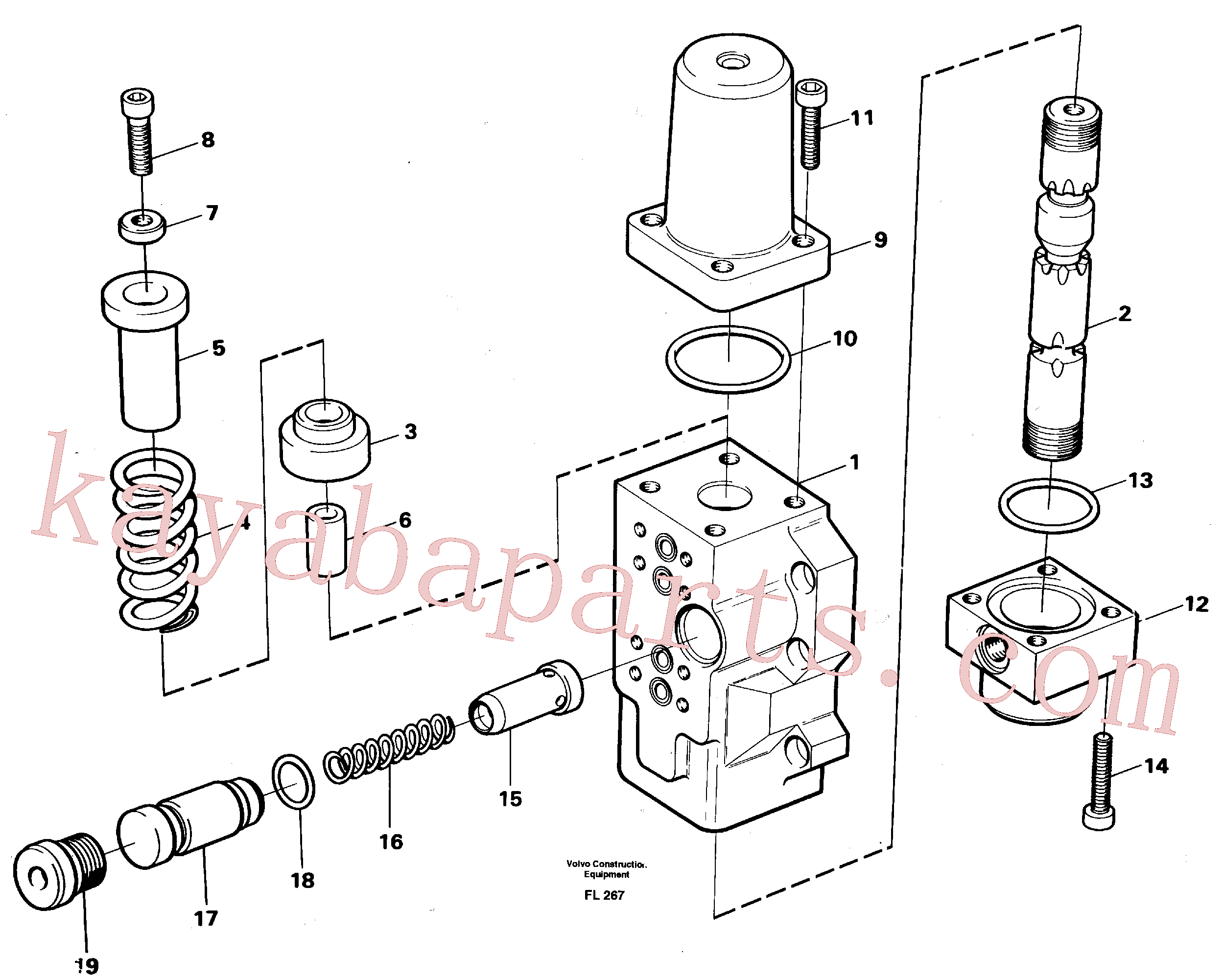 VOE959263 for Volvo Fourway valve, transport primary and secondary(FL267 assembly)