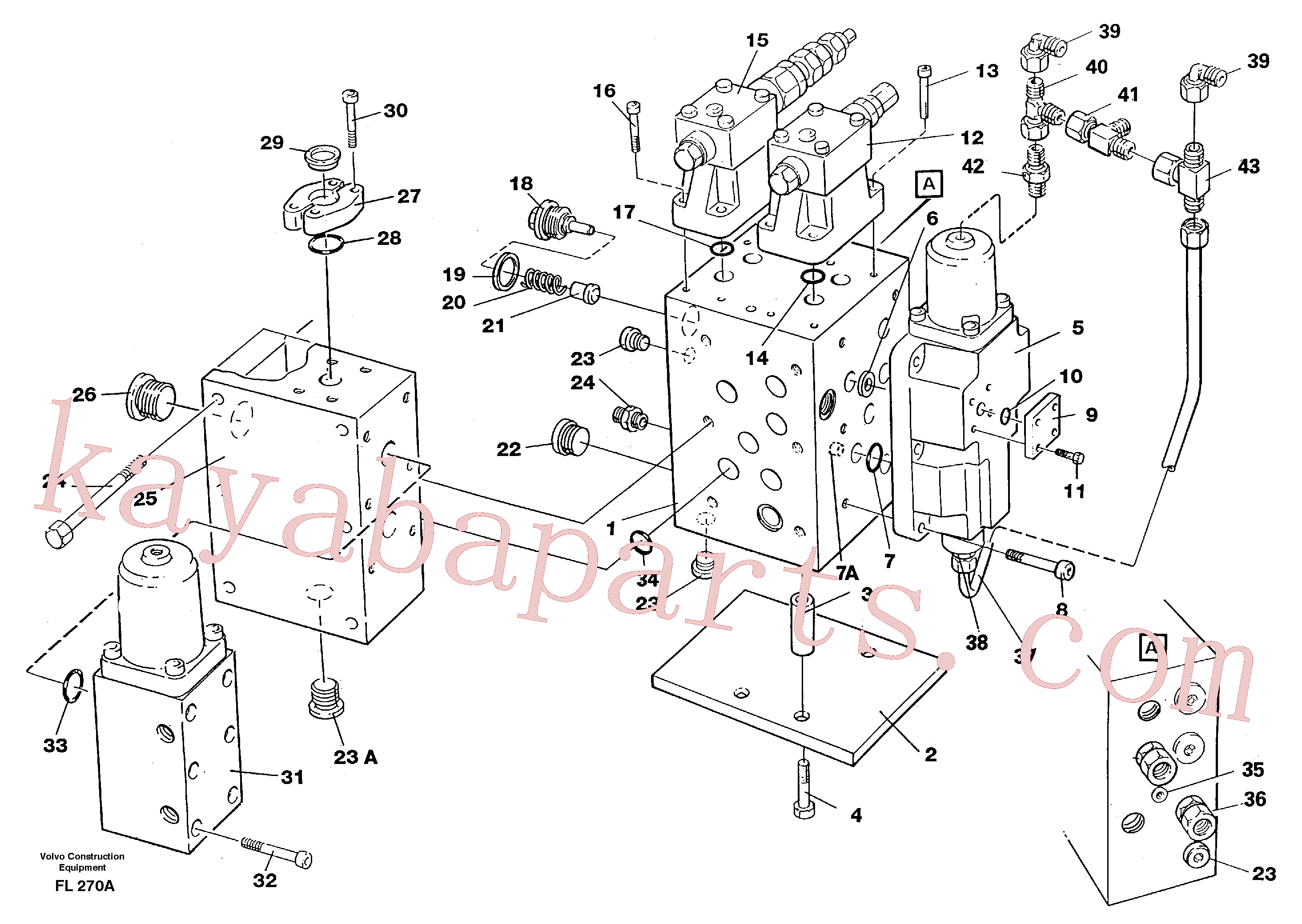 VOE13964042 for Volvo Slew valve assembly(FL270A assembly)