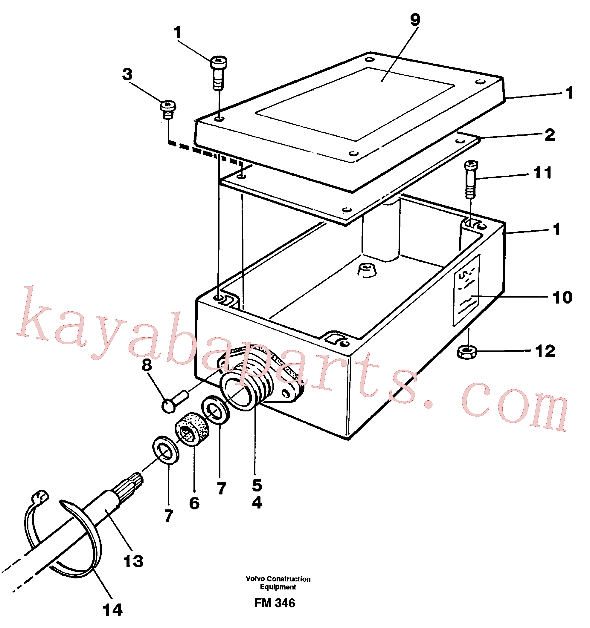 VOE14245946 for Volvo Electric installation for load limiting device(FM346 assembly)
