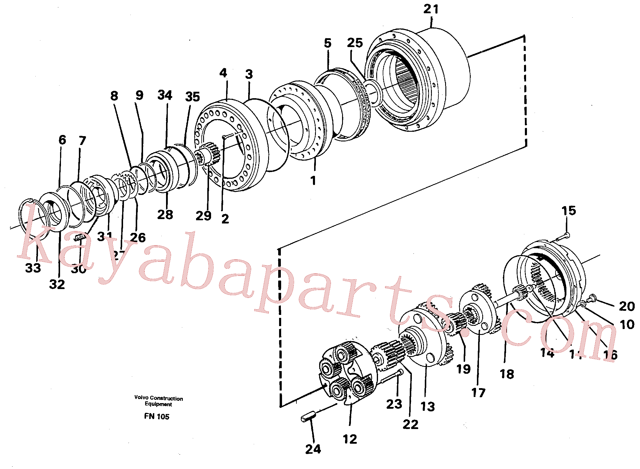 VOE14261946 for Volvo Planetary drive(FN105 assembly)