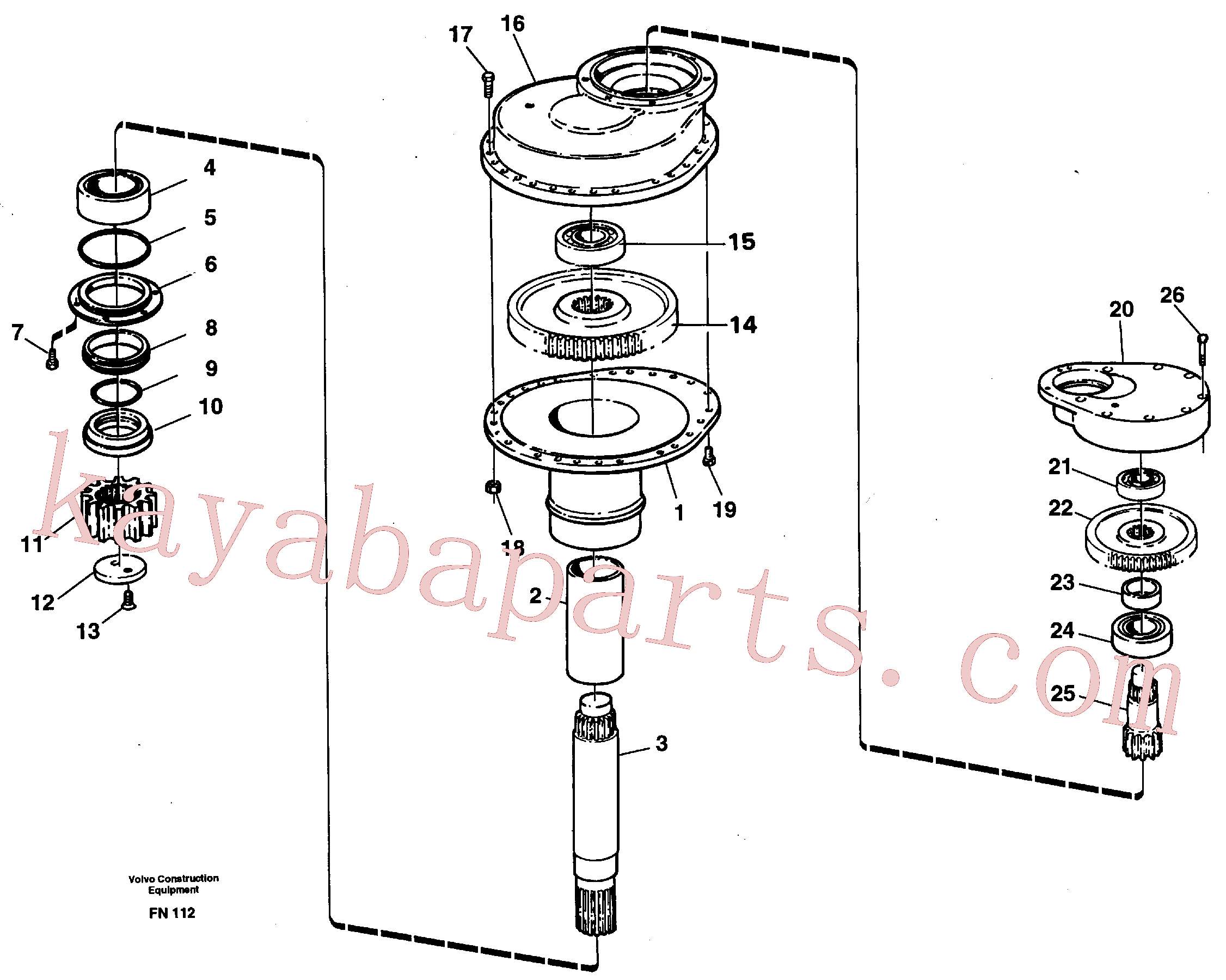 VOE14014601 for Volvo Swing gearbox(FN112 assembly)