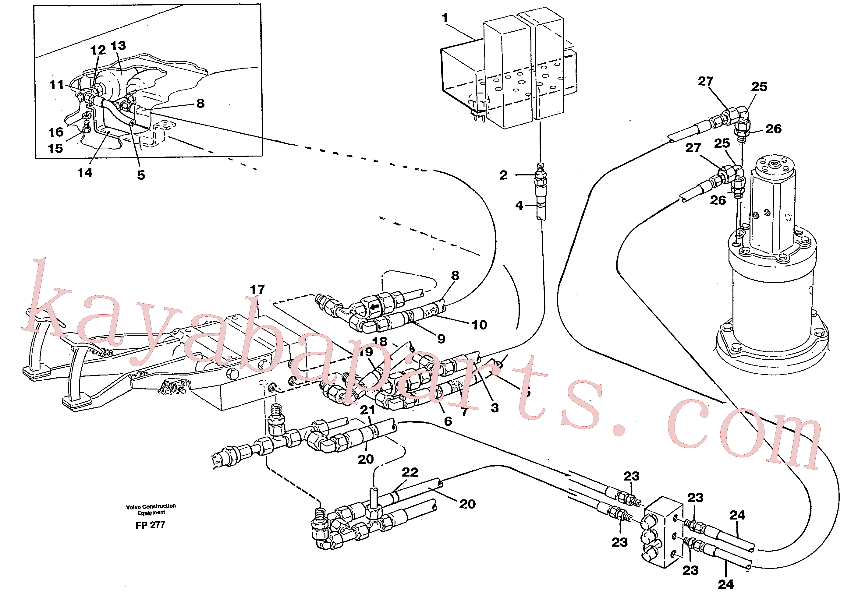 VOE14213824 for Volvo Brake system, superstructure(FP277 assembly)