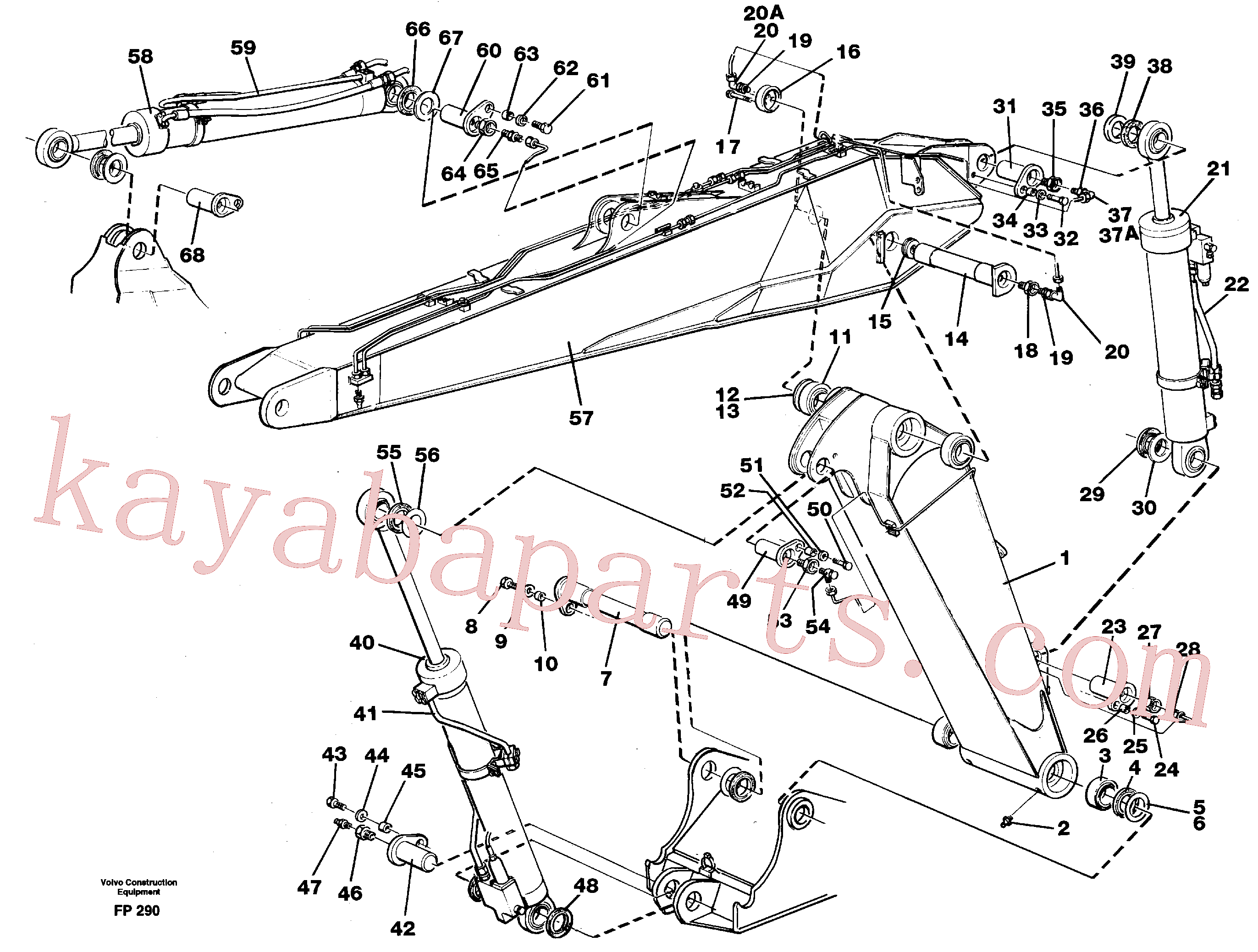 VOE14252425 for Volvo Adjustable boom with assembly(FP290 assembly)