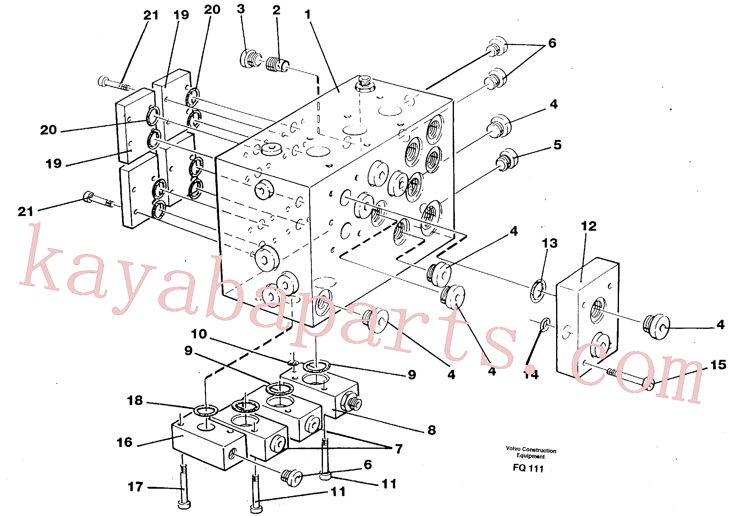 VOE14023407 for Volvo Slew valve assembly block(FQ111 assembly)