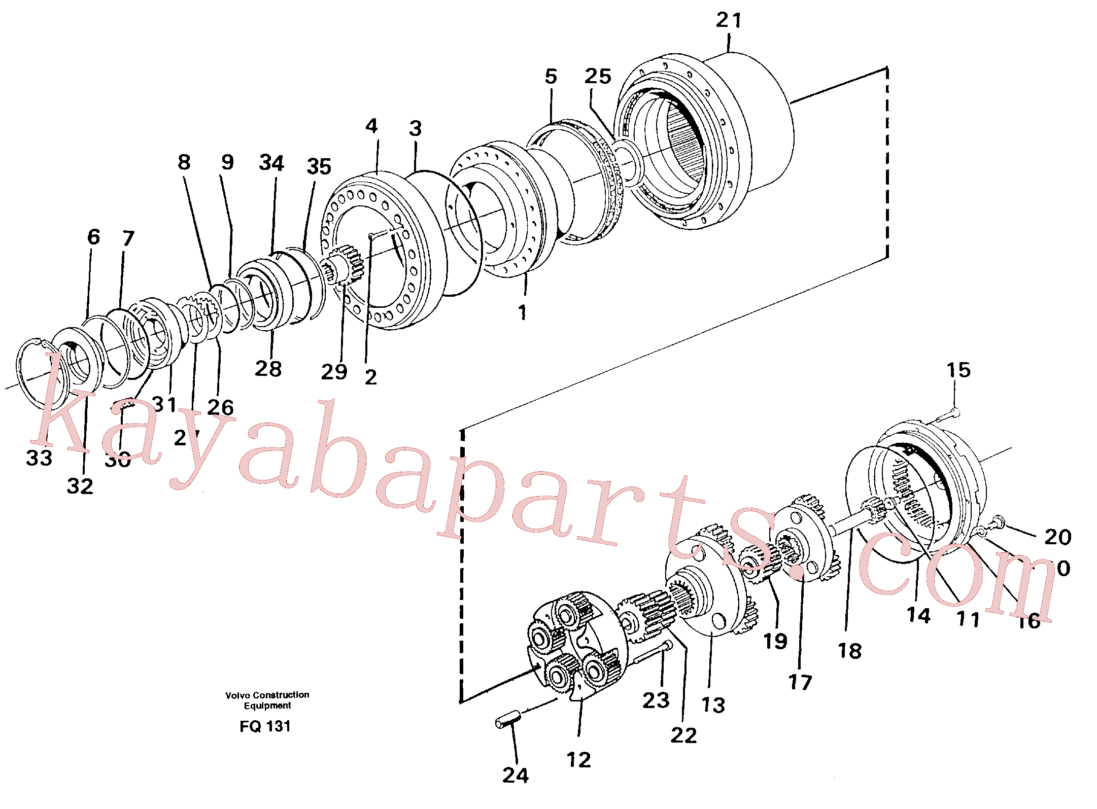 VOE14261946 for Volvo Planetary drive(FQ131 assembly)