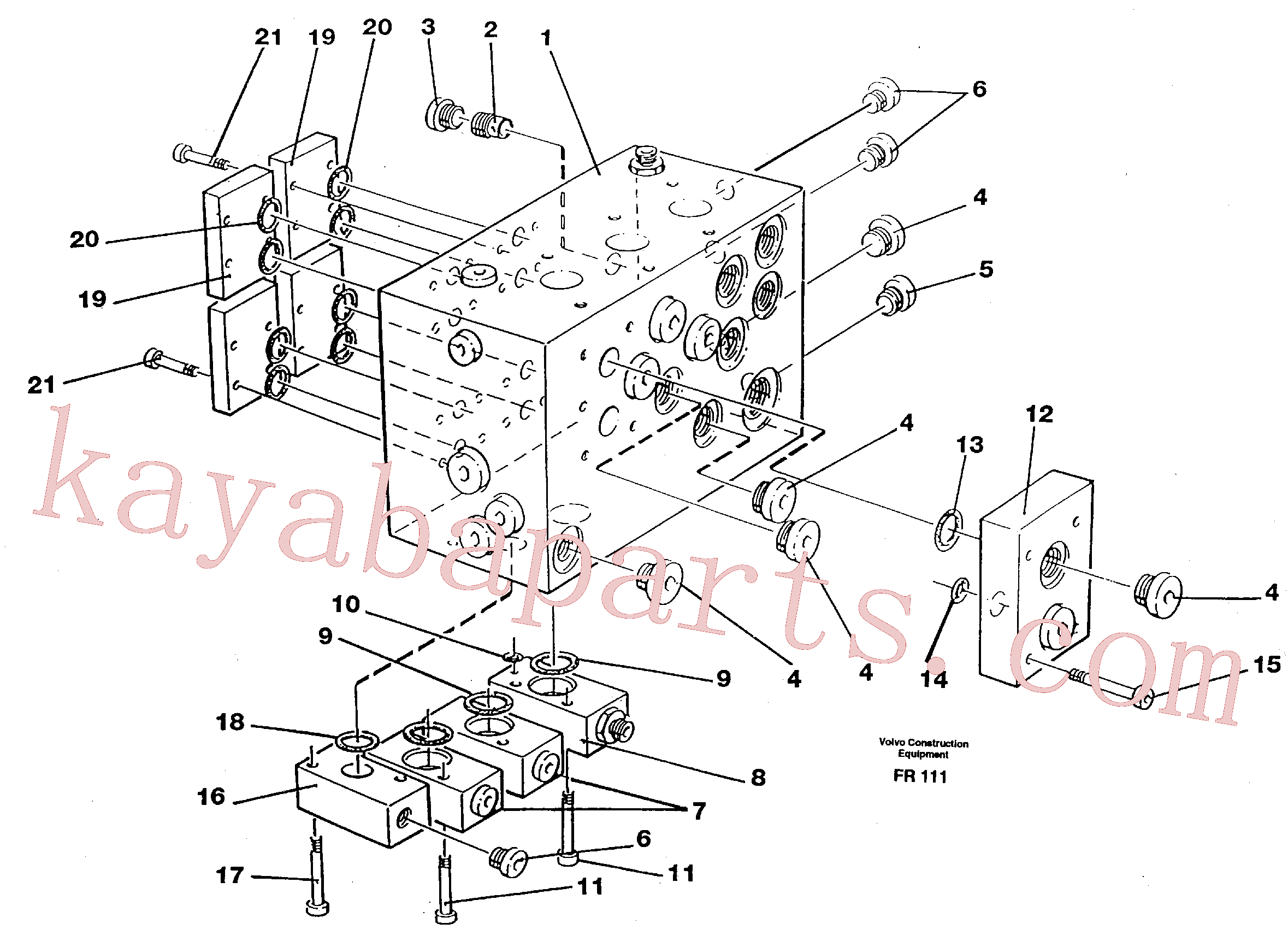 VOE949721 for Volvo Slew valve assembly block(FR111 assembly)
